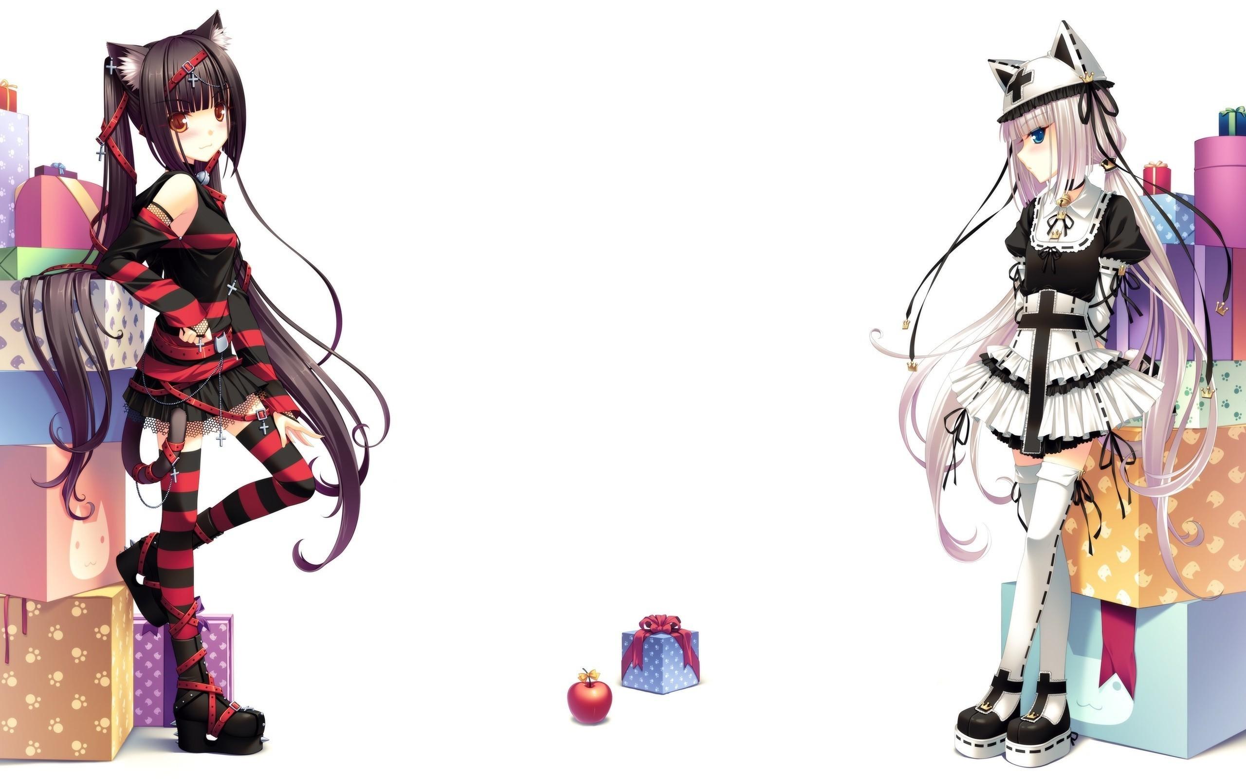 anime Girls, Anime, Neko Para, Vanilla (Neko Para), Chocolat (Neko Para)  Wallpapers HD / Desktop and Mobile Backgrounds
