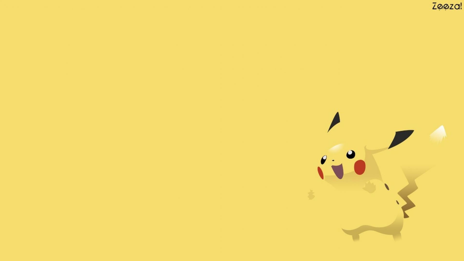 Pokemon minimalistic pikachu wallpaper | (9129)