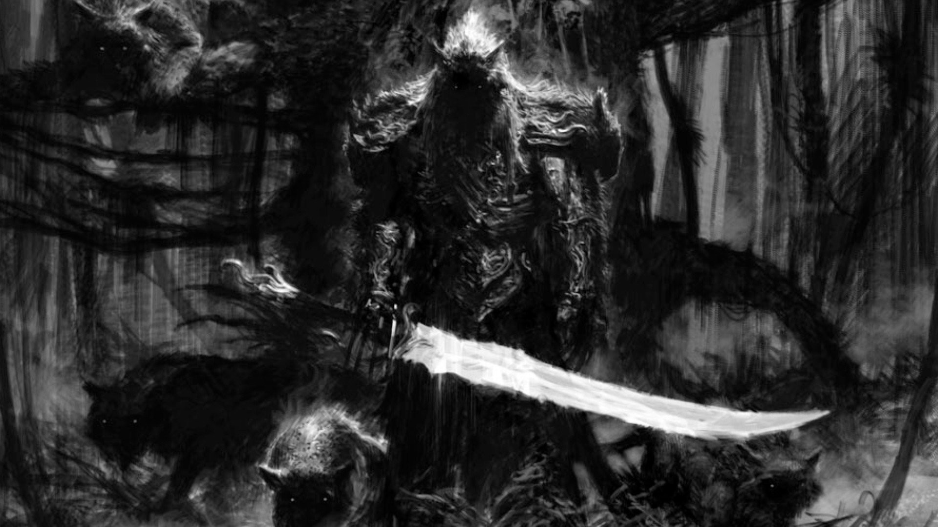 Dark – Warrior Wallpaper