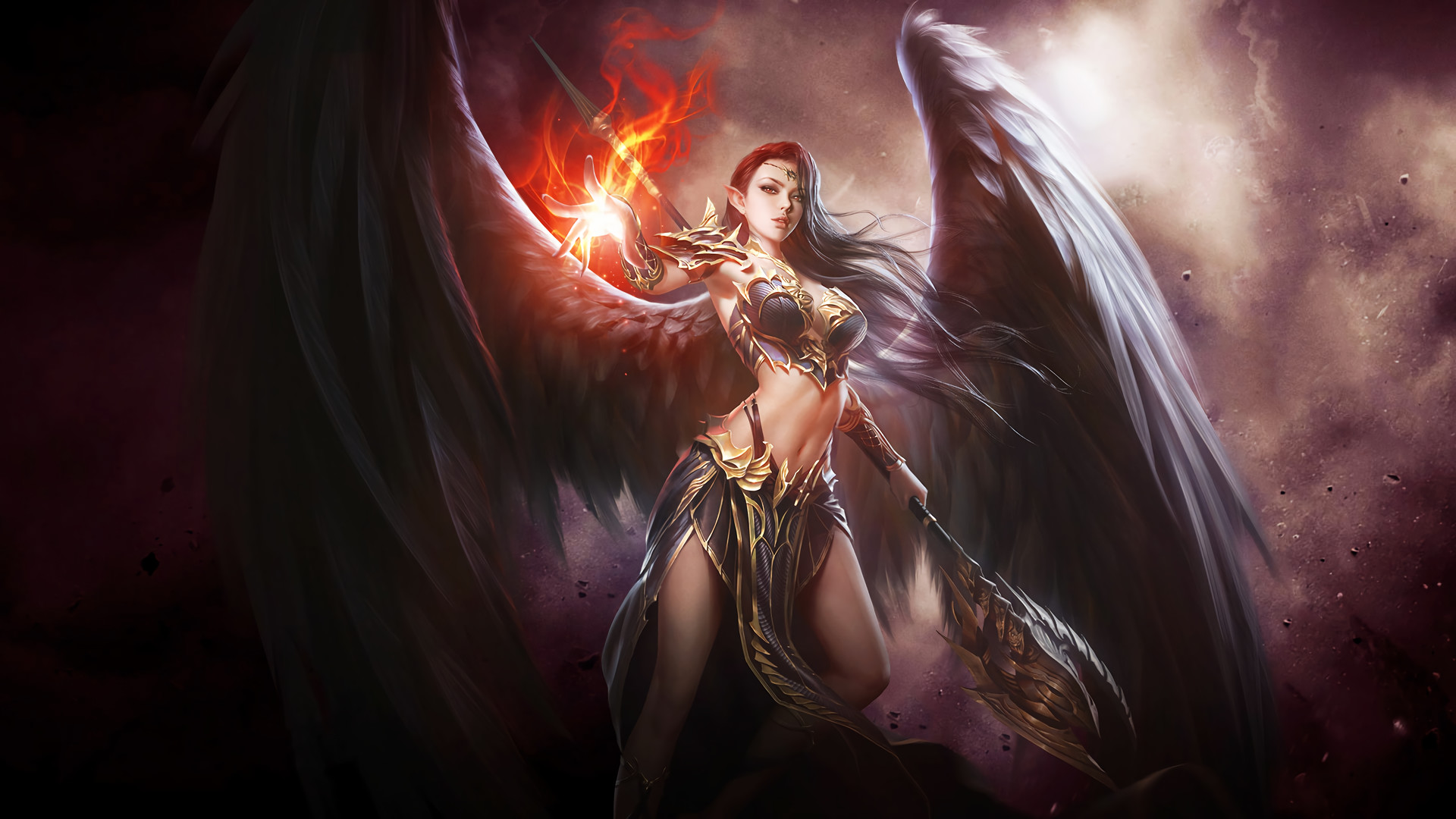 HD Wallpaper | Background ID:783897. Fantasy Angel Warrior