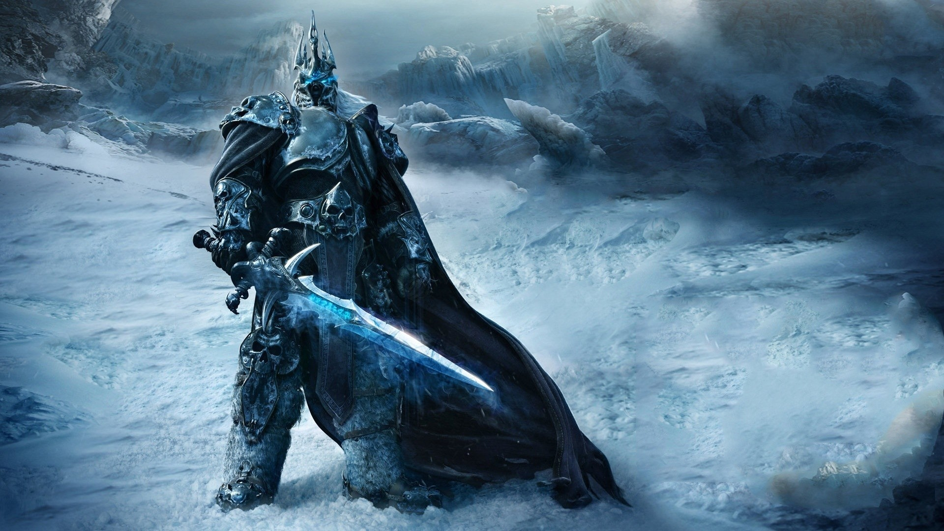 Preview wallpaper game, warrior, world of warcraft, wrath of the lich king  1920×1080