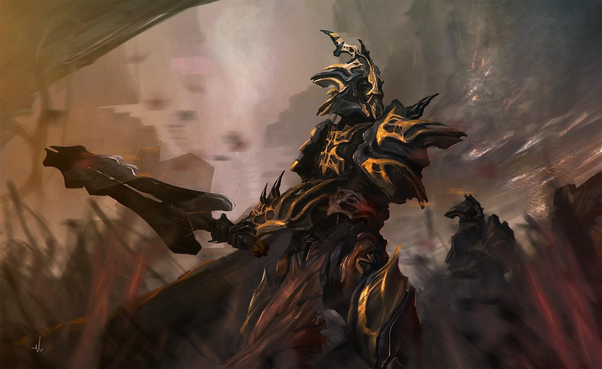 fantasy Art, Warrior Wallpaper HD