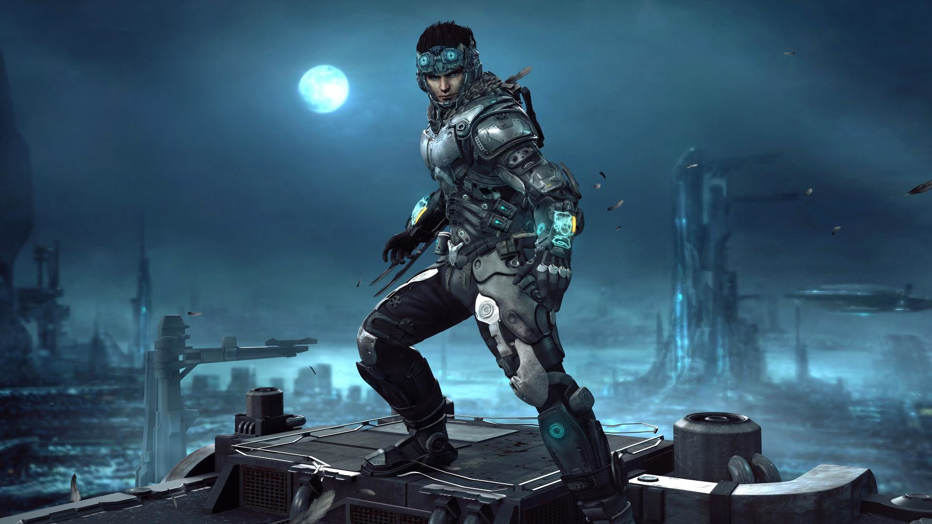 HD Cyborg warrior Wallpaper