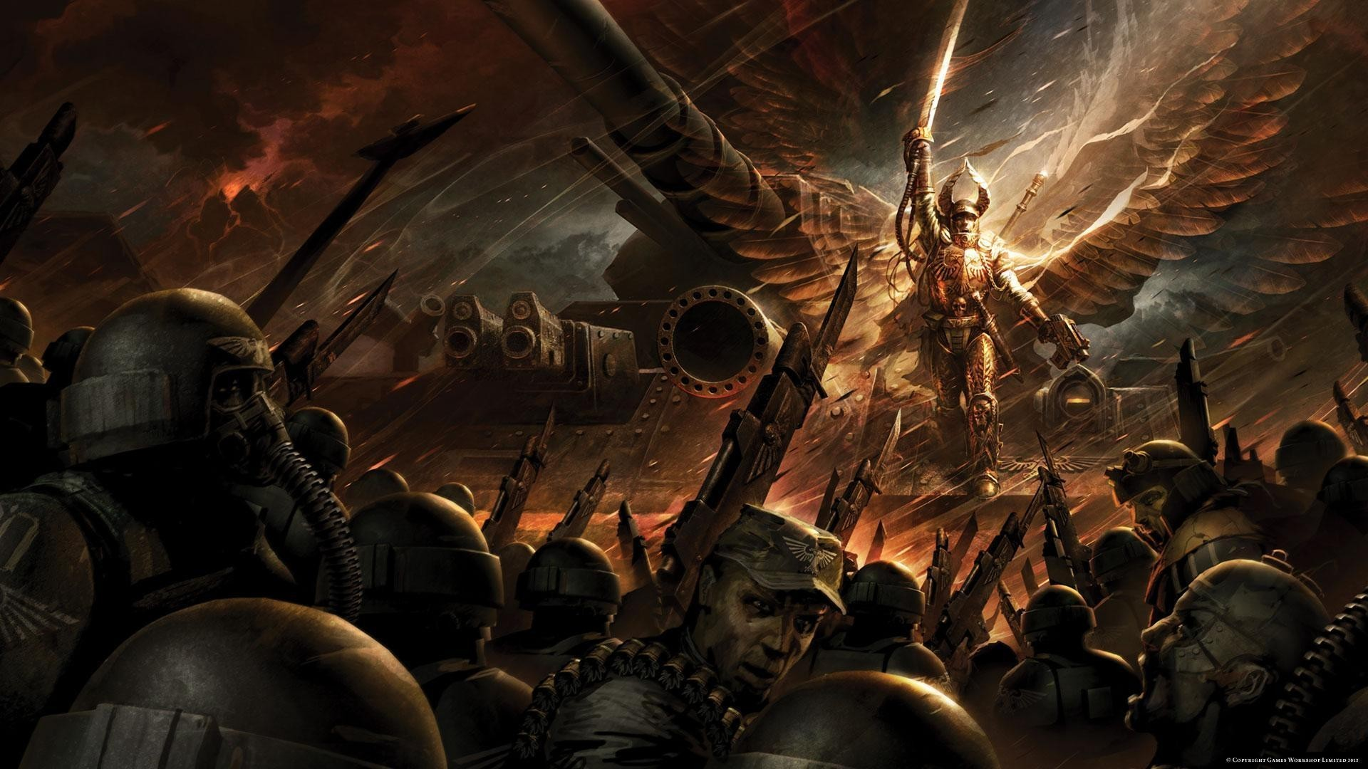 imperial guard, Warhammer 40K Blood Angel, swords, Angel,