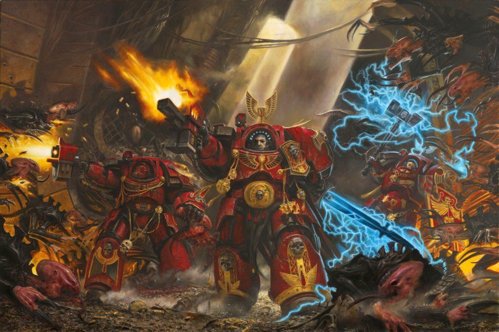 Adrian smith, spacehulk, warhammer 40k, blood angels, armor, gun
