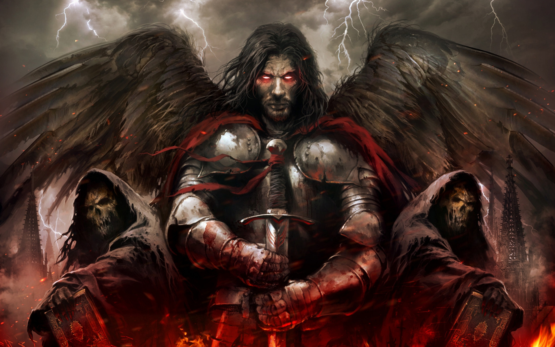 Dark – Angel – Fallen Angel – Death Wallpaper