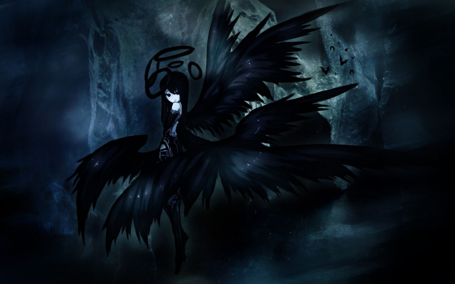Dark Anime Angel Wallpaper 6321 – uMad.com