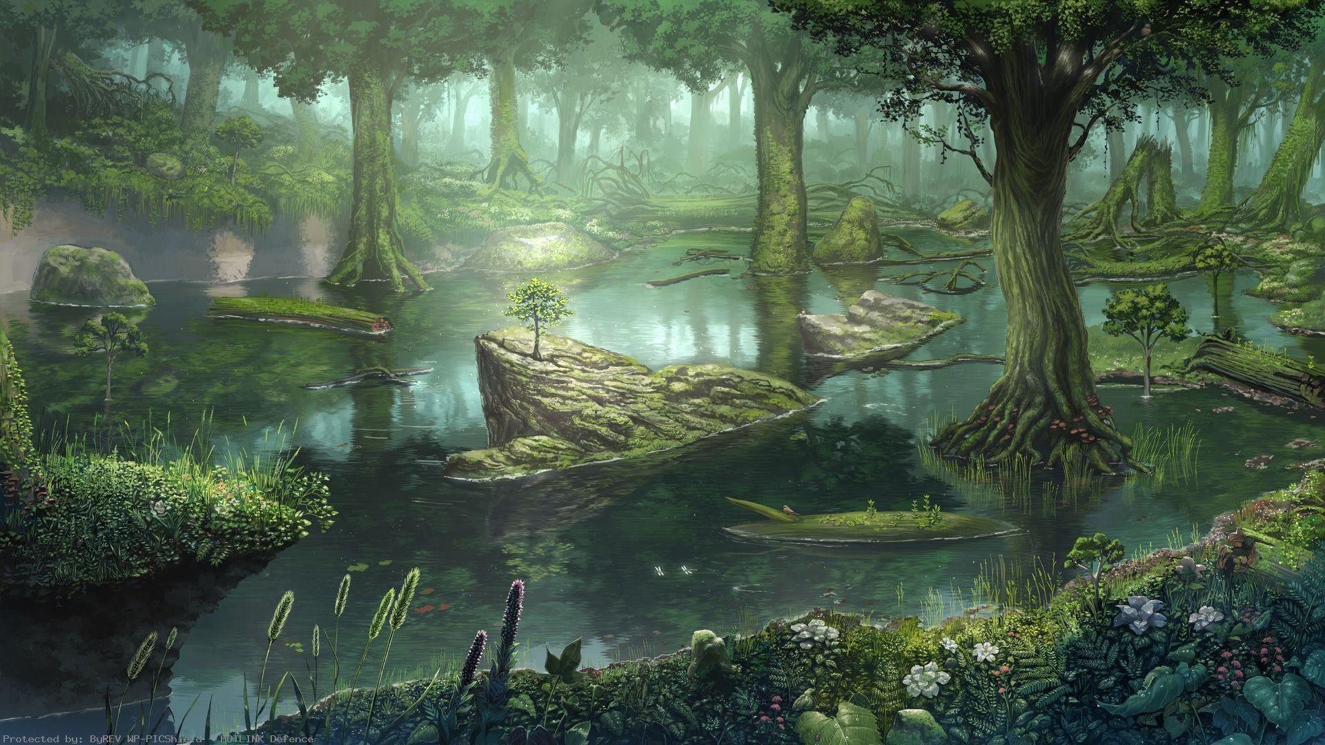 fantasy-swamp-Forest-swamp-wallpaper-wp4004163