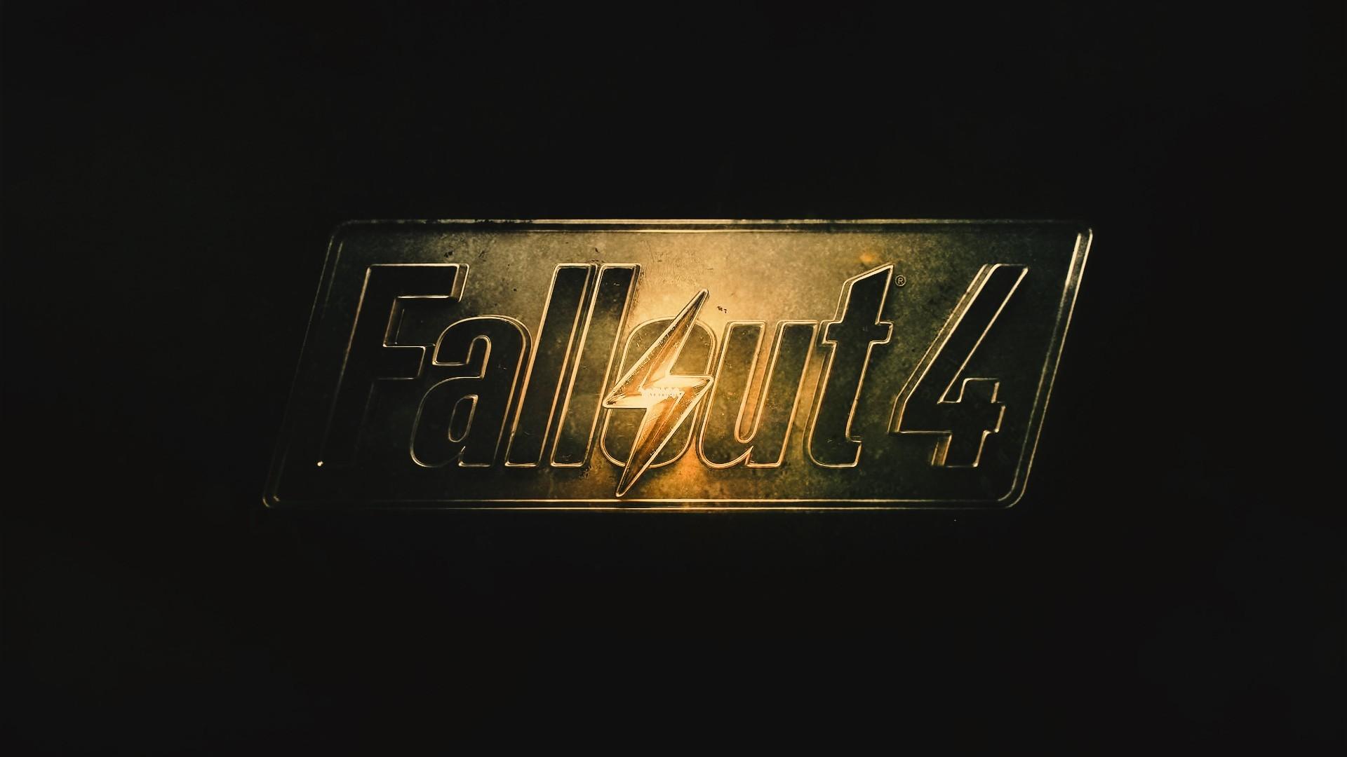 Preview wallpaper fallout 4, fallout, logo 1920×1080
