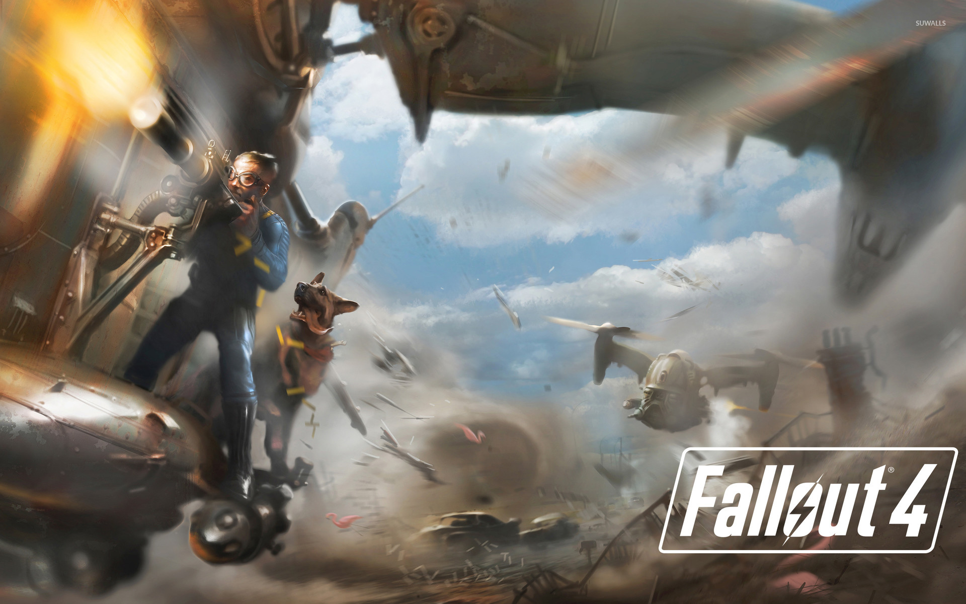 Battle in Fallout 4 wallpaper – Game wallpapers – #49539