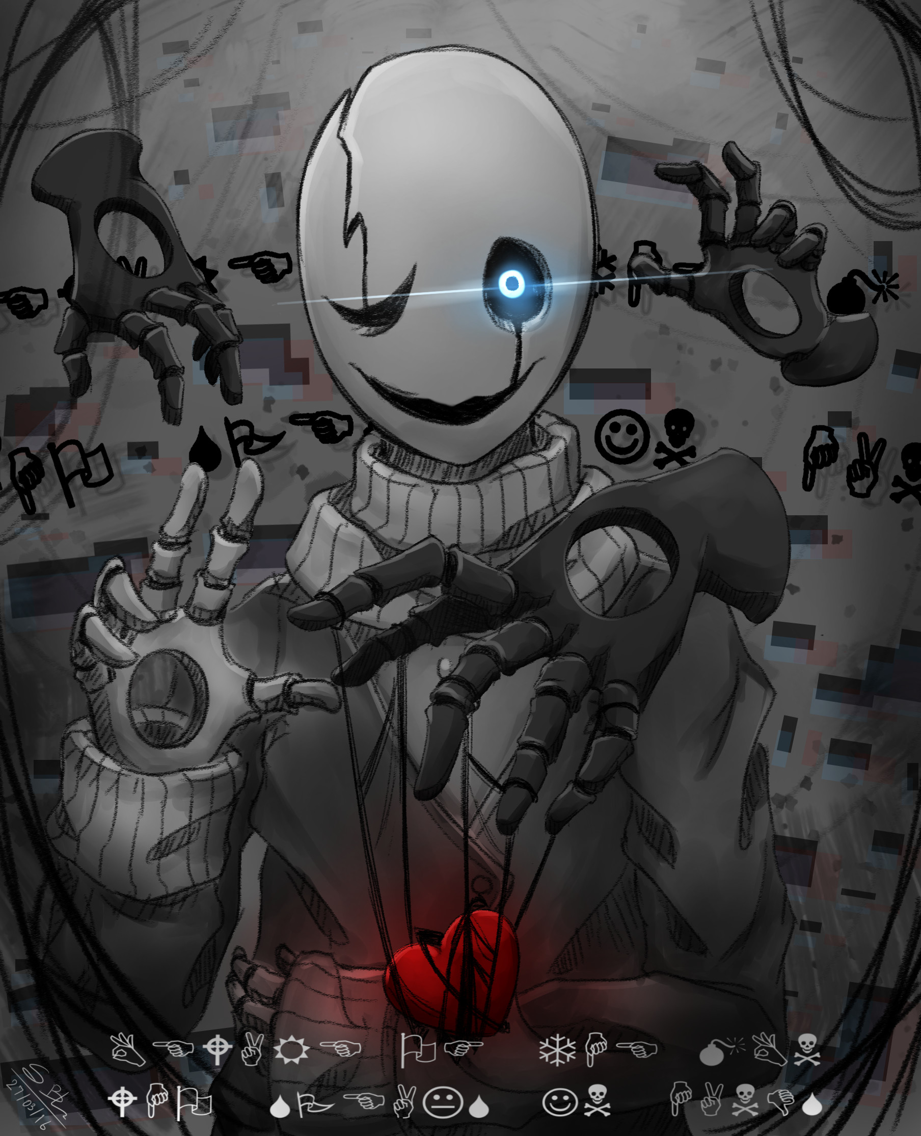 … W.D.Gaster + Speed Paint by S-blacksnow