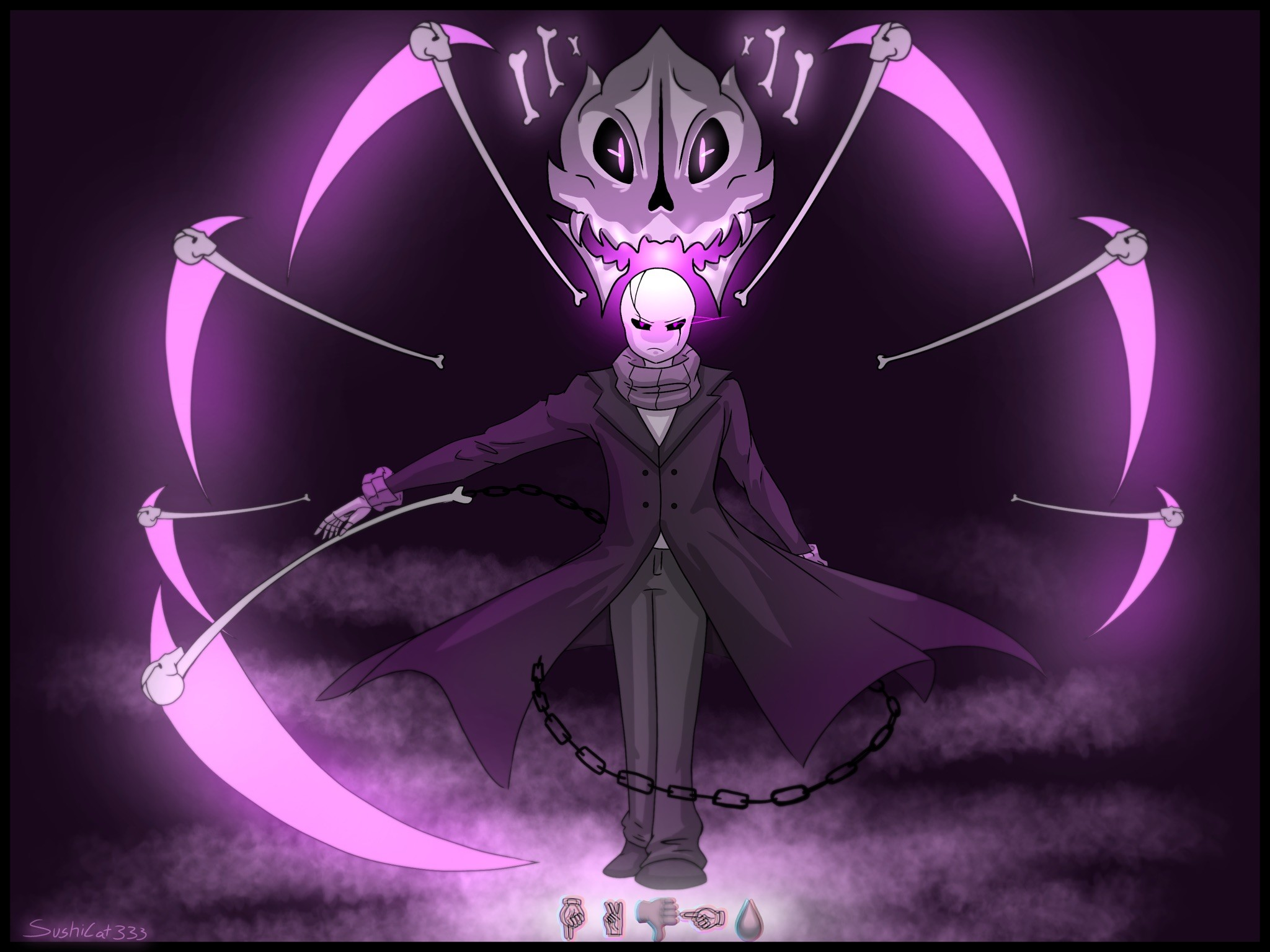… HADES- Gaster's special attack by Sushi-Cat333