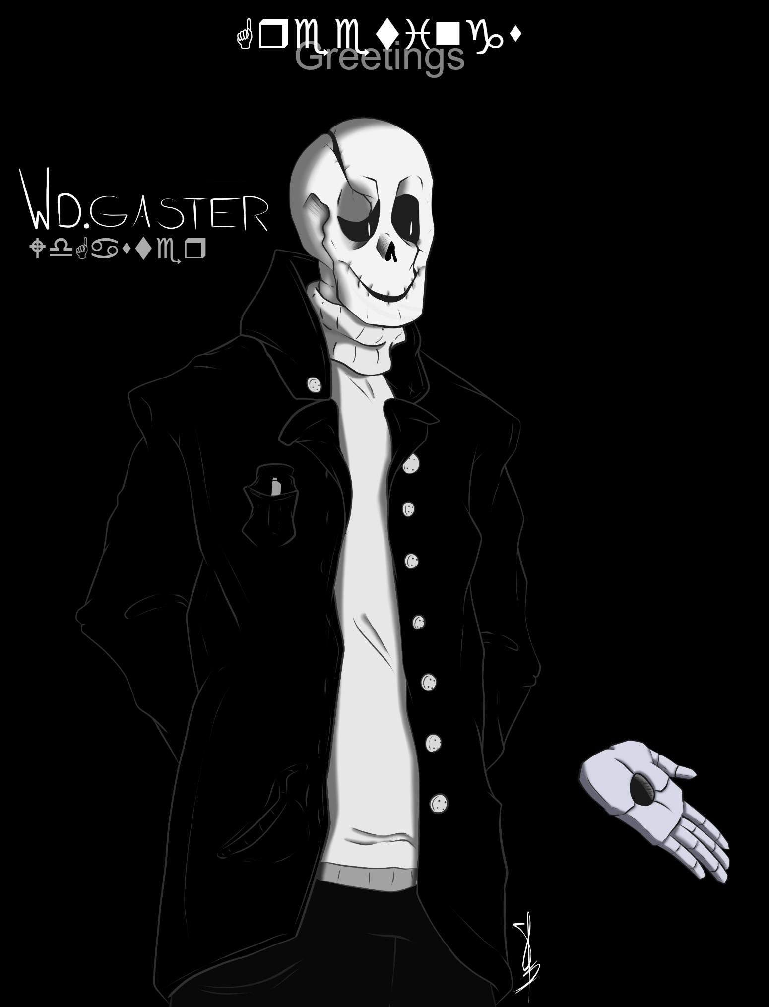 Gaster (Undertale Fan-Art) by Lebleuh