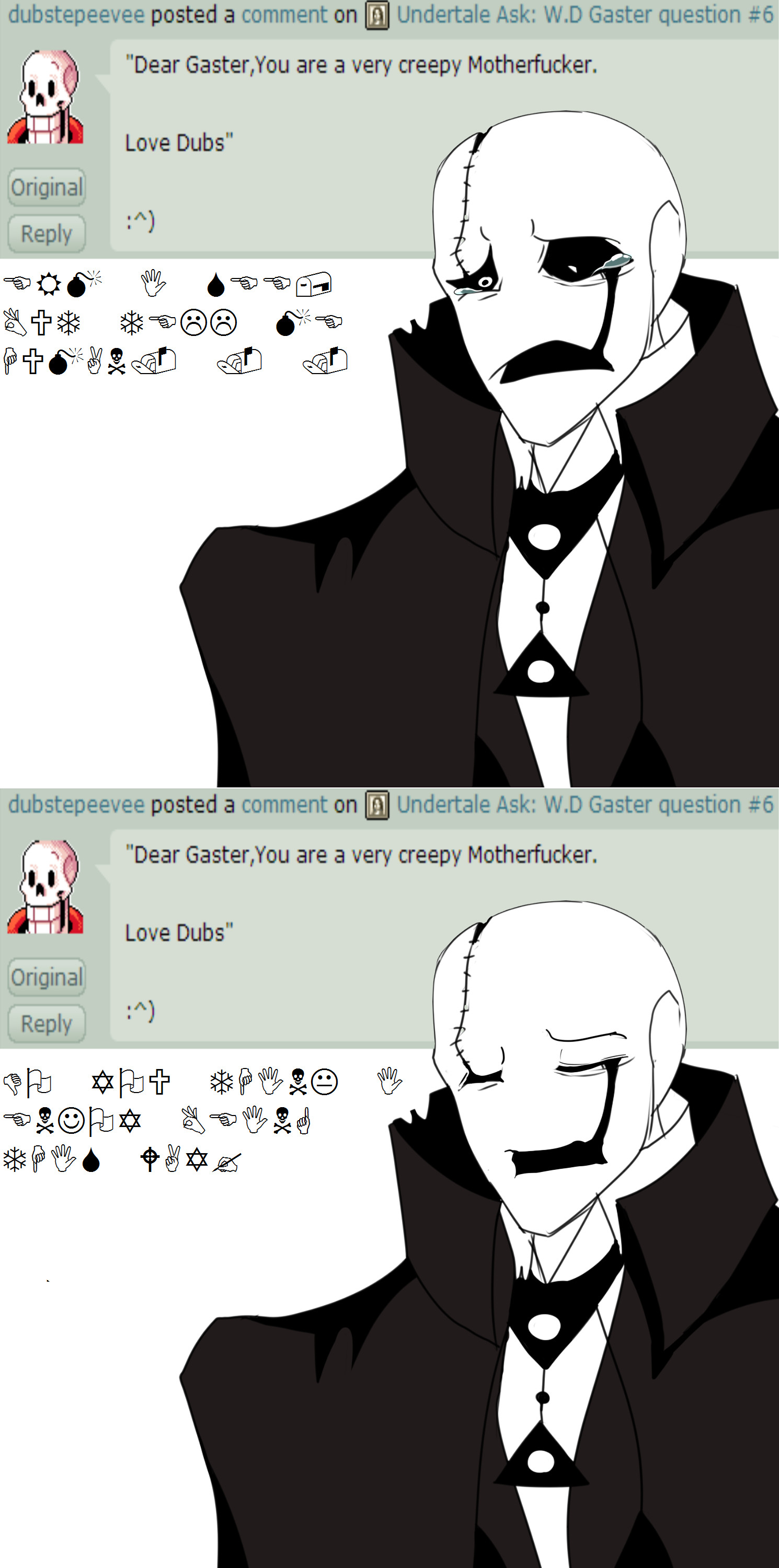 … Undertale Ask: W.D Gaster question #7 by The-Star-Hunter