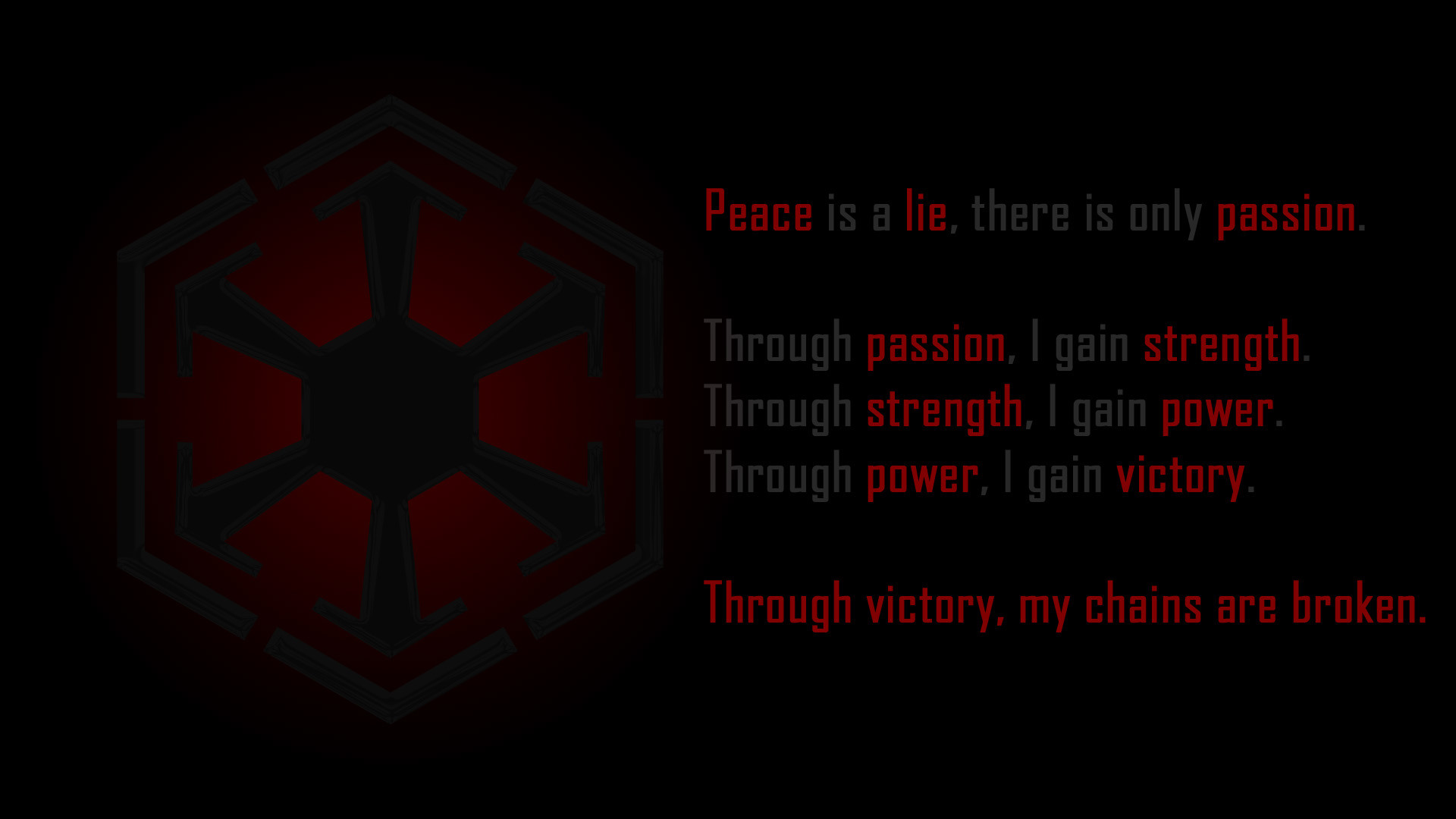 Star Wars Wallpapers with Sith Code | The Art Mad Wallpapers