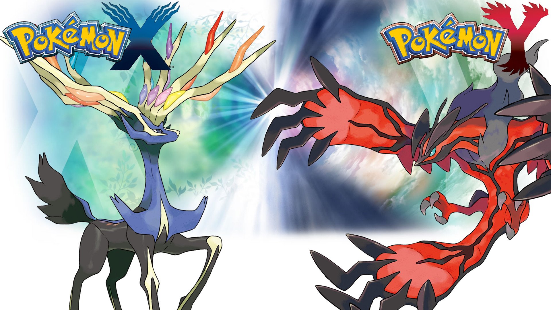… Pokemon X Y – Wallpaper – Xerneas and Yveltal by Thelimomon