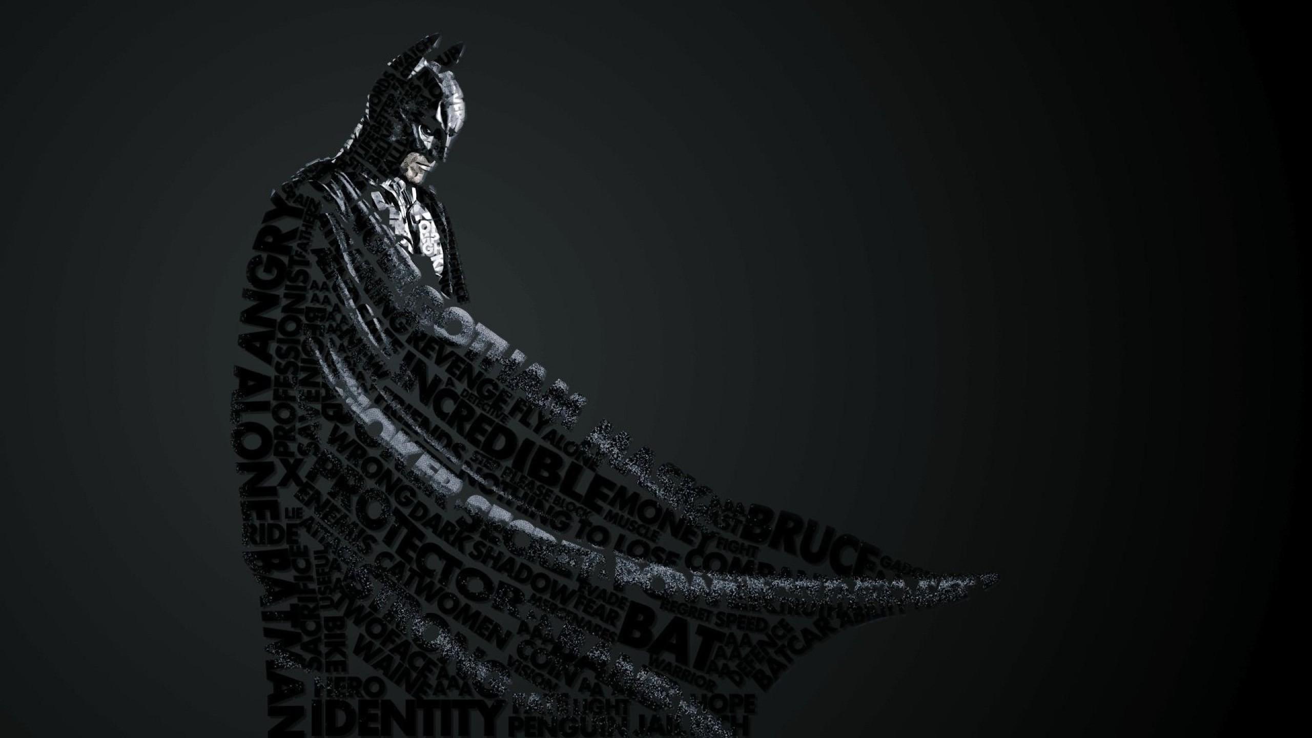 Preview wallpaper batman, style, lettering 2560×1440