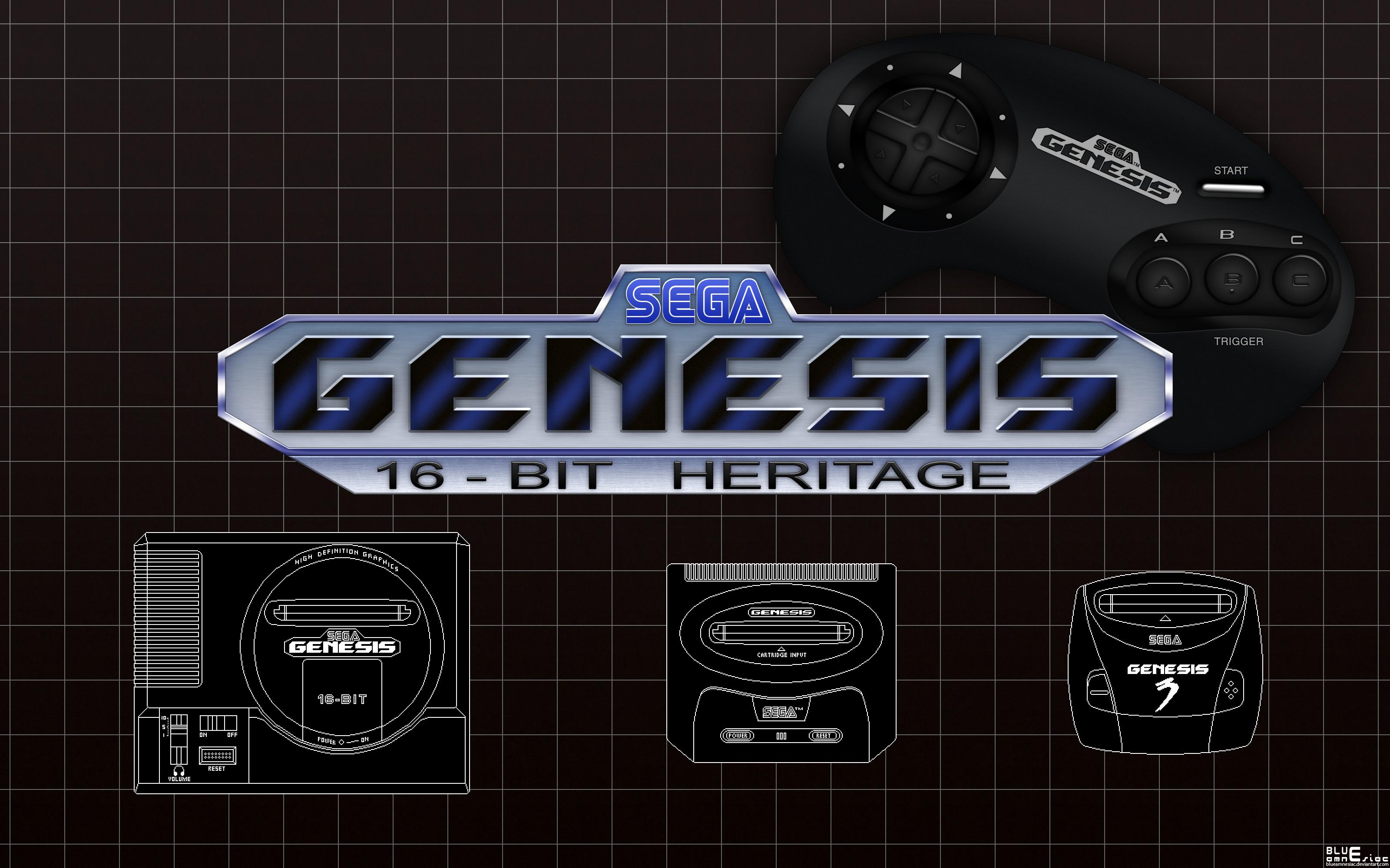 Sega Mega Drive: 16-bit Heritage Wallpaper by BLUEamnesiac on .