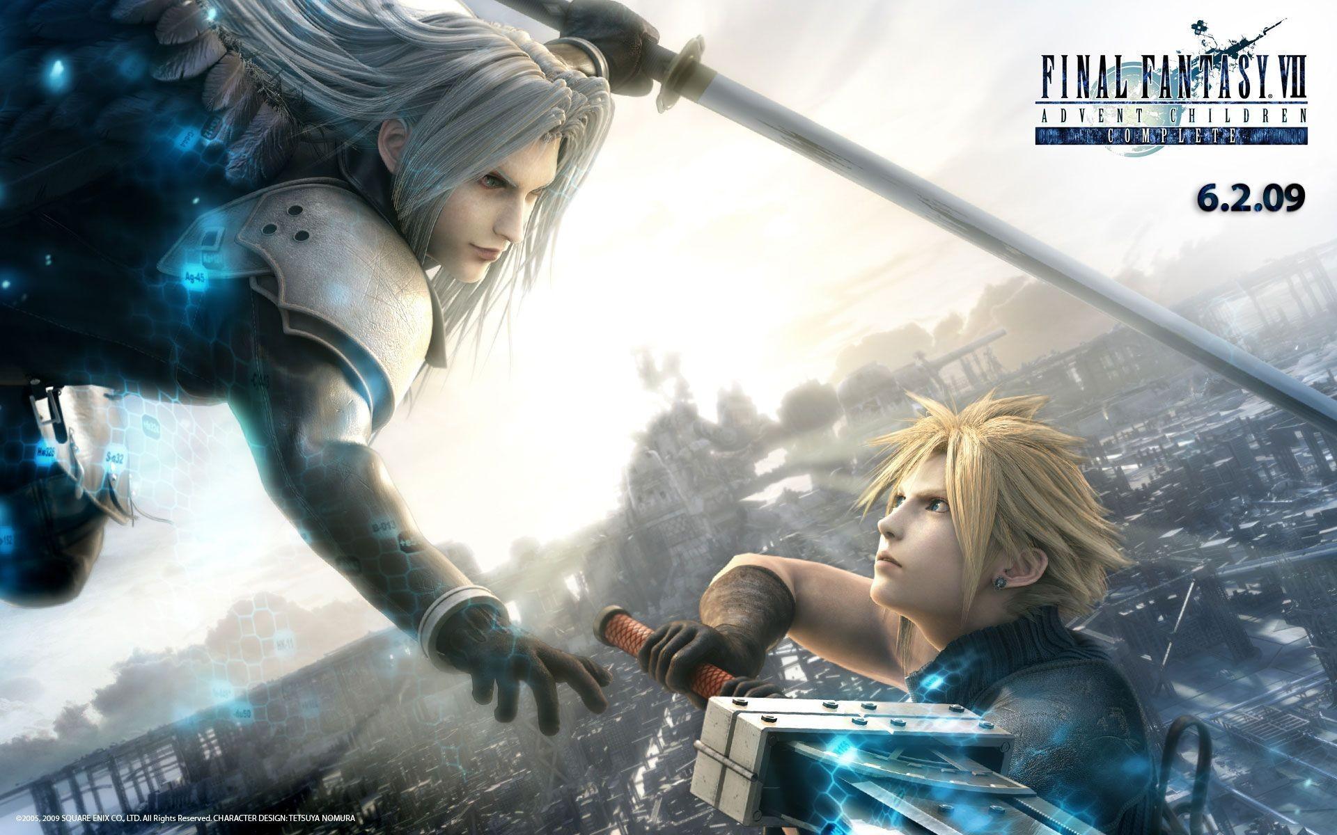 Download Final Fantasy Vii Anime Cloud Strife Sephiroth Wallpaper .