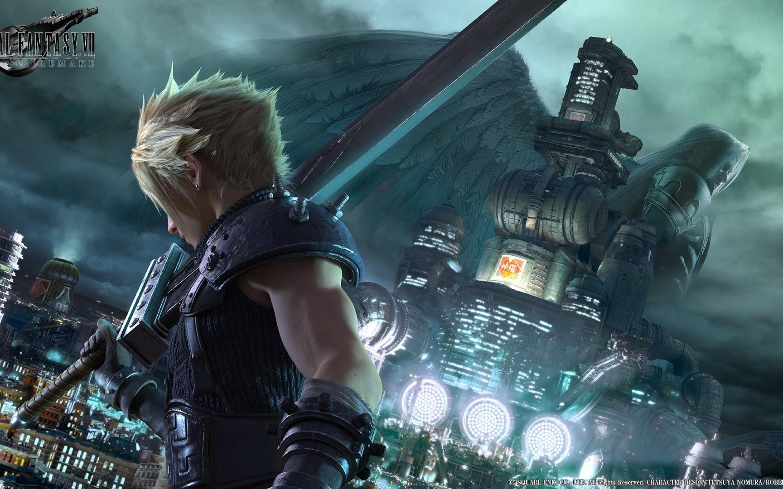 Final Fantasy Vii, Cloud Strife, Big Sword, Armor