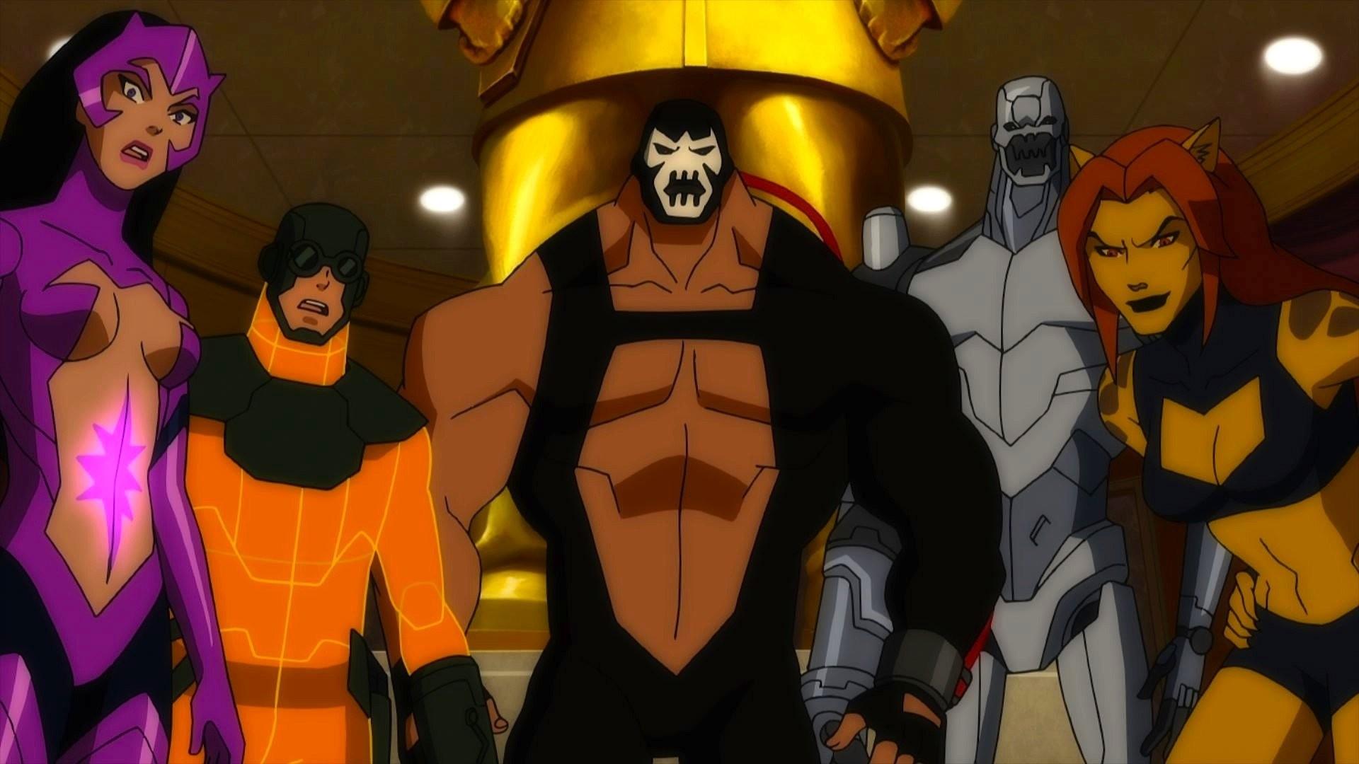 Tecknat – Justice League: Doom Bane (Batman) Cheetah (DC Comics) Bakgrund