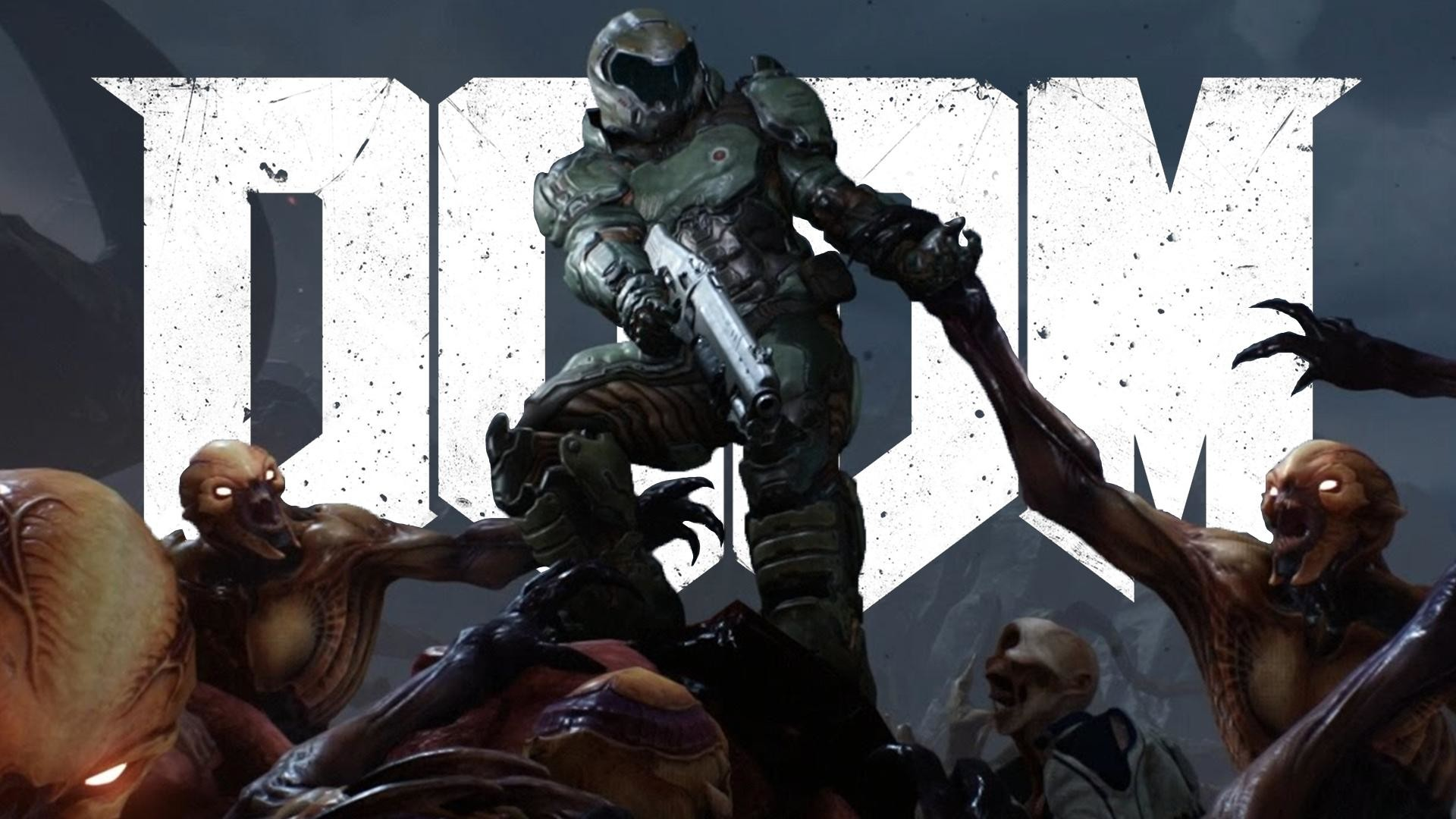 Doom (2016)Made the last frame from the launch trailer into a new wallpaper,  in style of the classic cover …