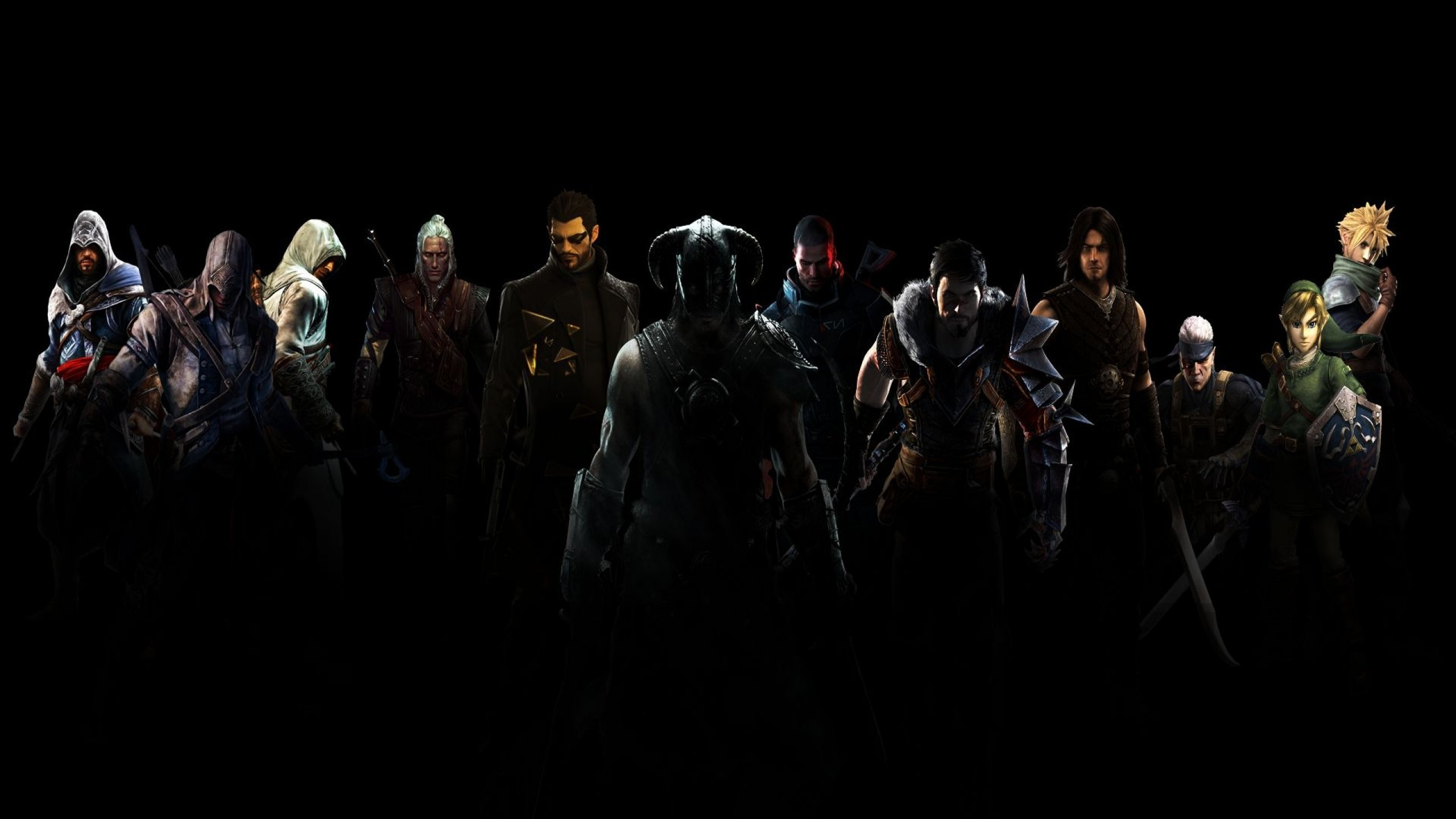 Download Game protagonists wallpaper