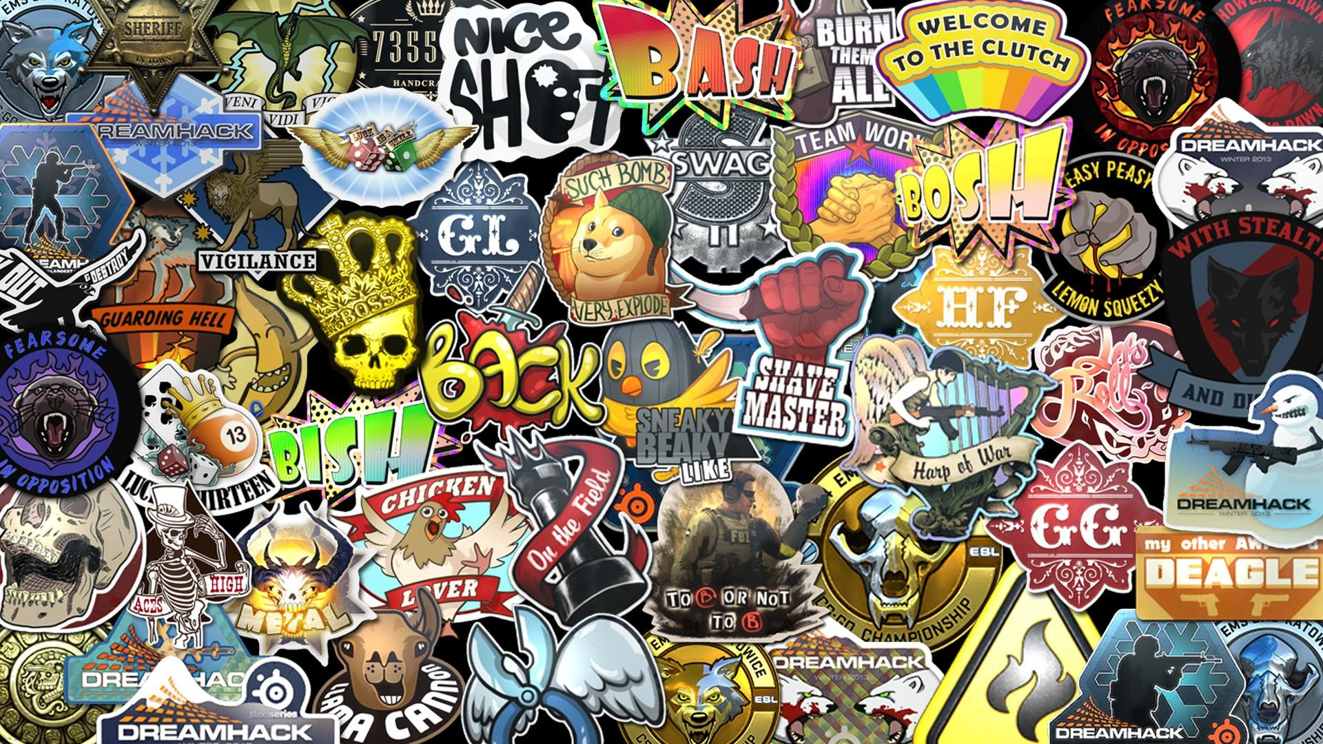 CS:GO Stickers Wallpaper