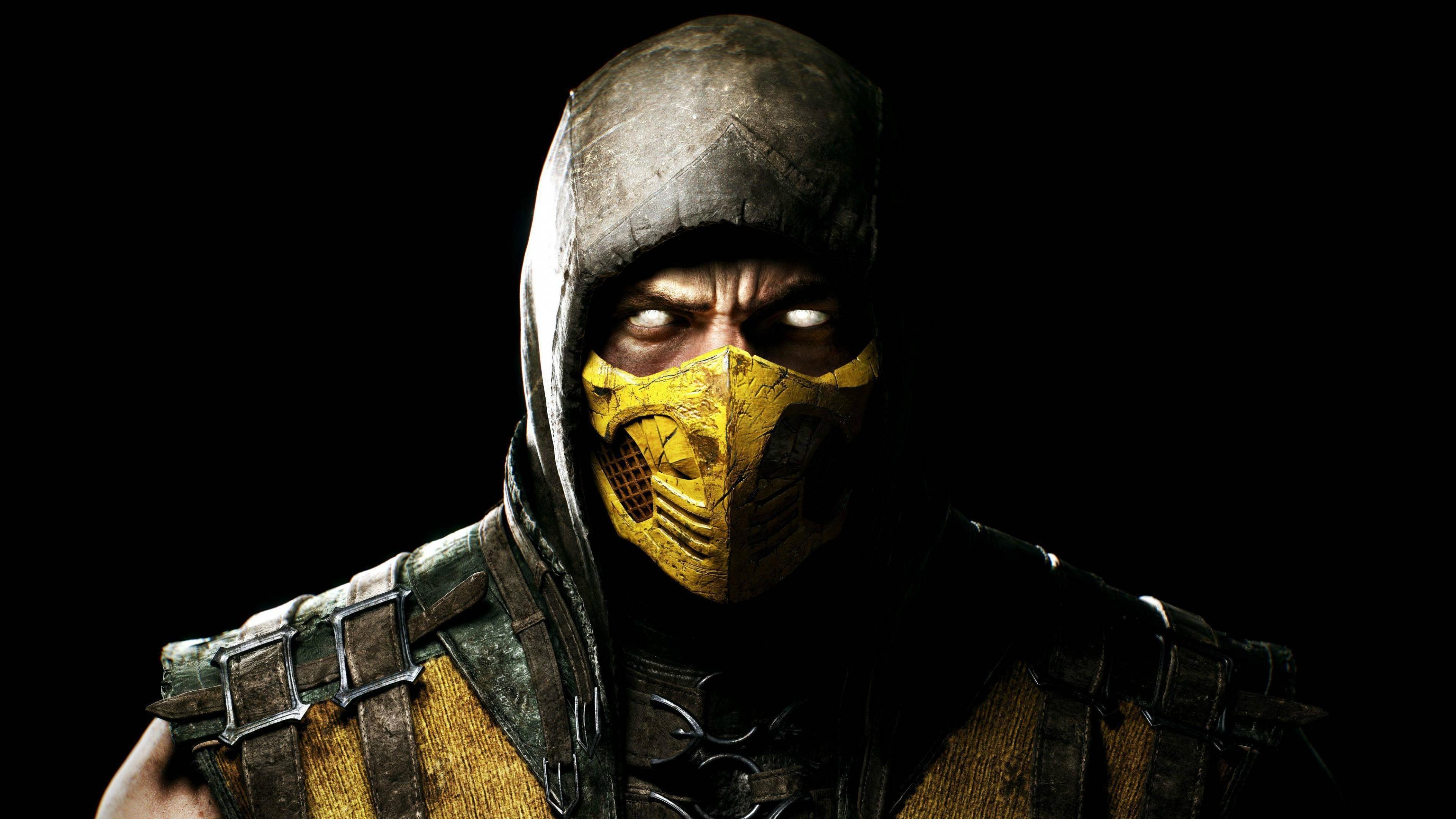 Preview wallpaper mortal kombat x, scorpio, ninja, mask 3840×2160