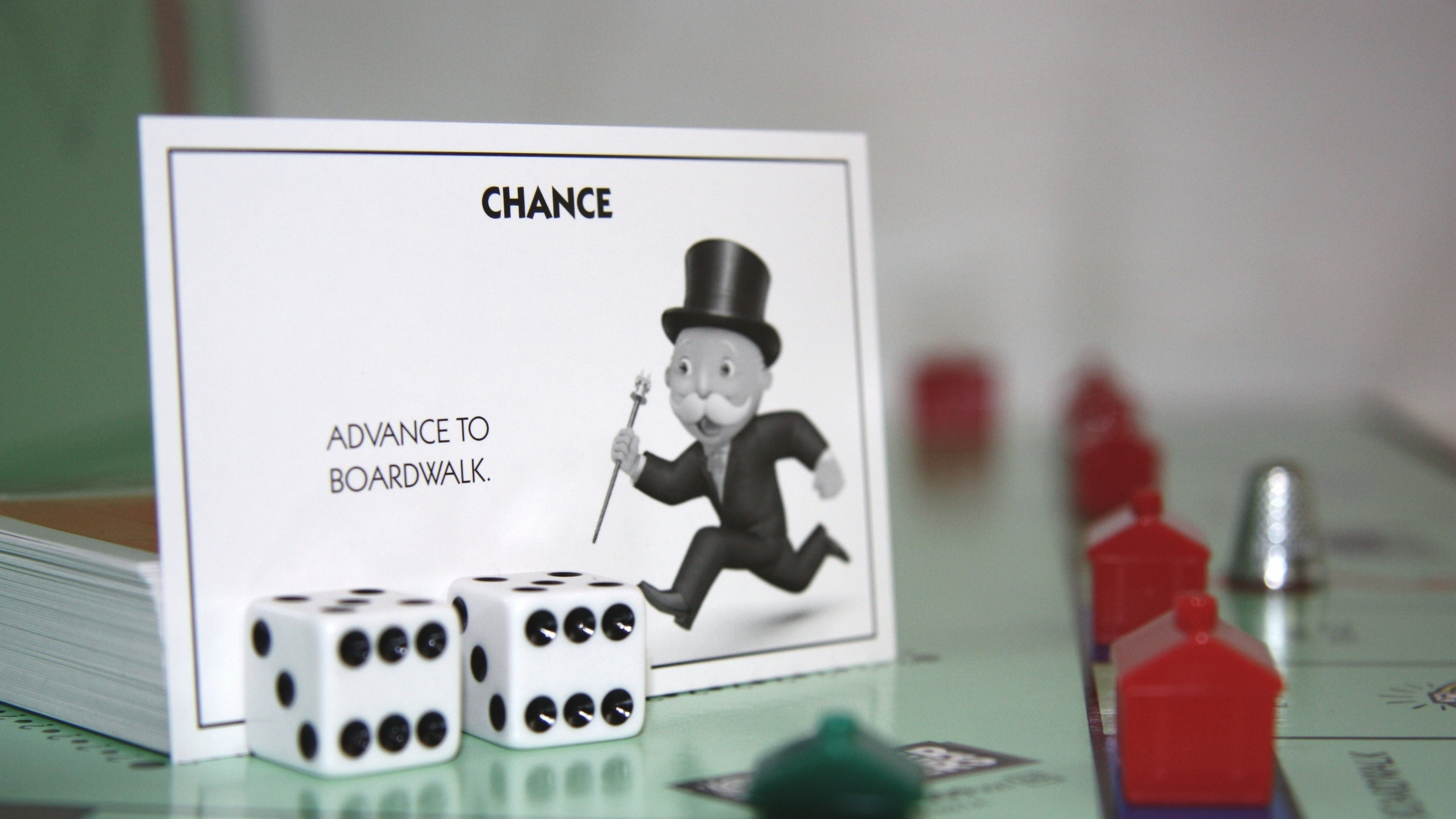 Preview wallpaper monopoly, bones, game, cards 3840×2160