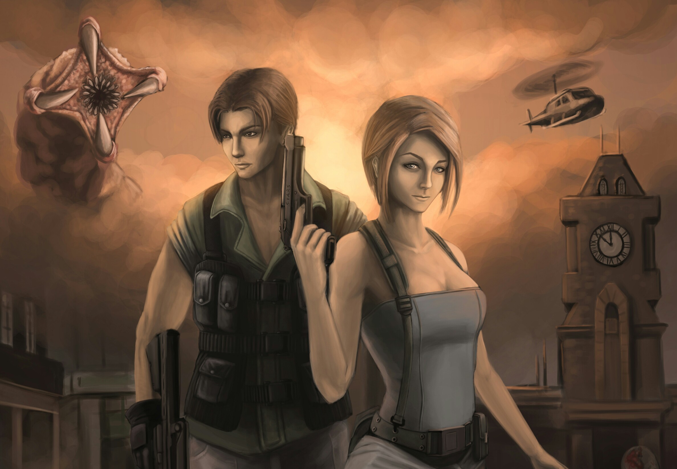 Image Resident Evil 3 jill valentine Carlos Oliveira Girls