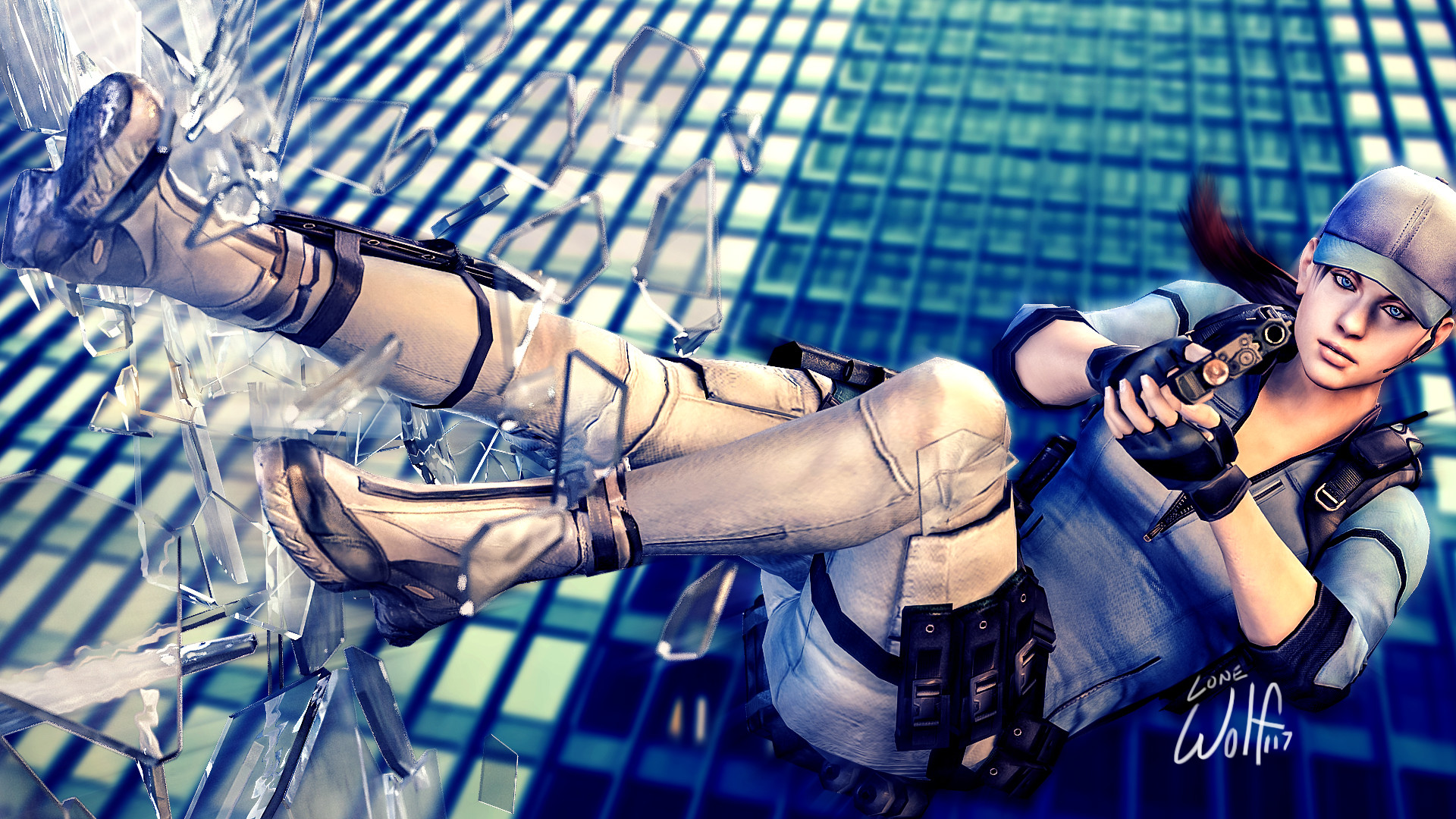 Jill reminds me that you can't live life taking the easy path. I just hope  that path doesn't lead me out a window like her. Jill Valentine: Leap of  Faith