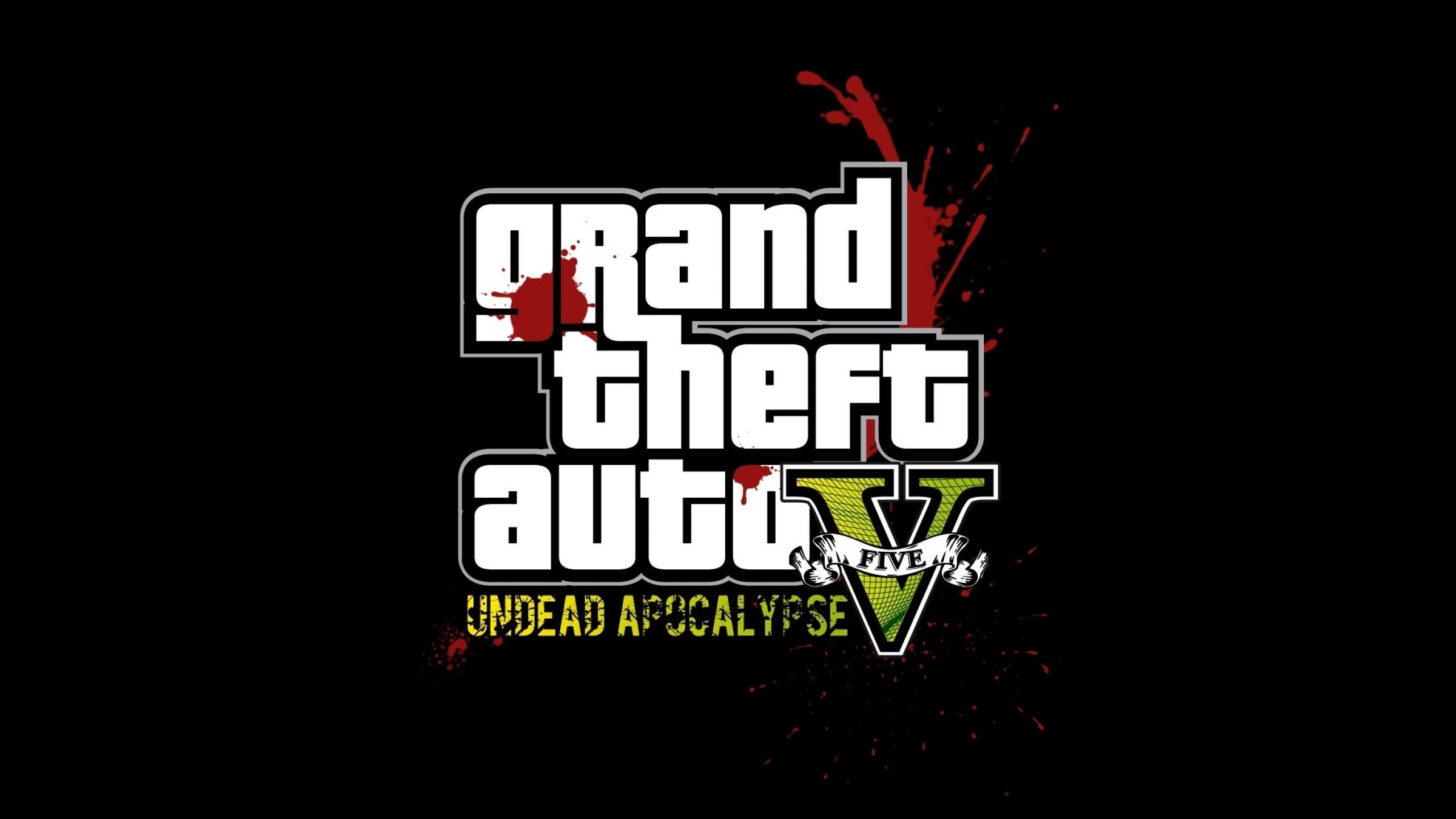 Wallpaper gta, grand theft auto 5, undead apocalypse, blood,  graphics,