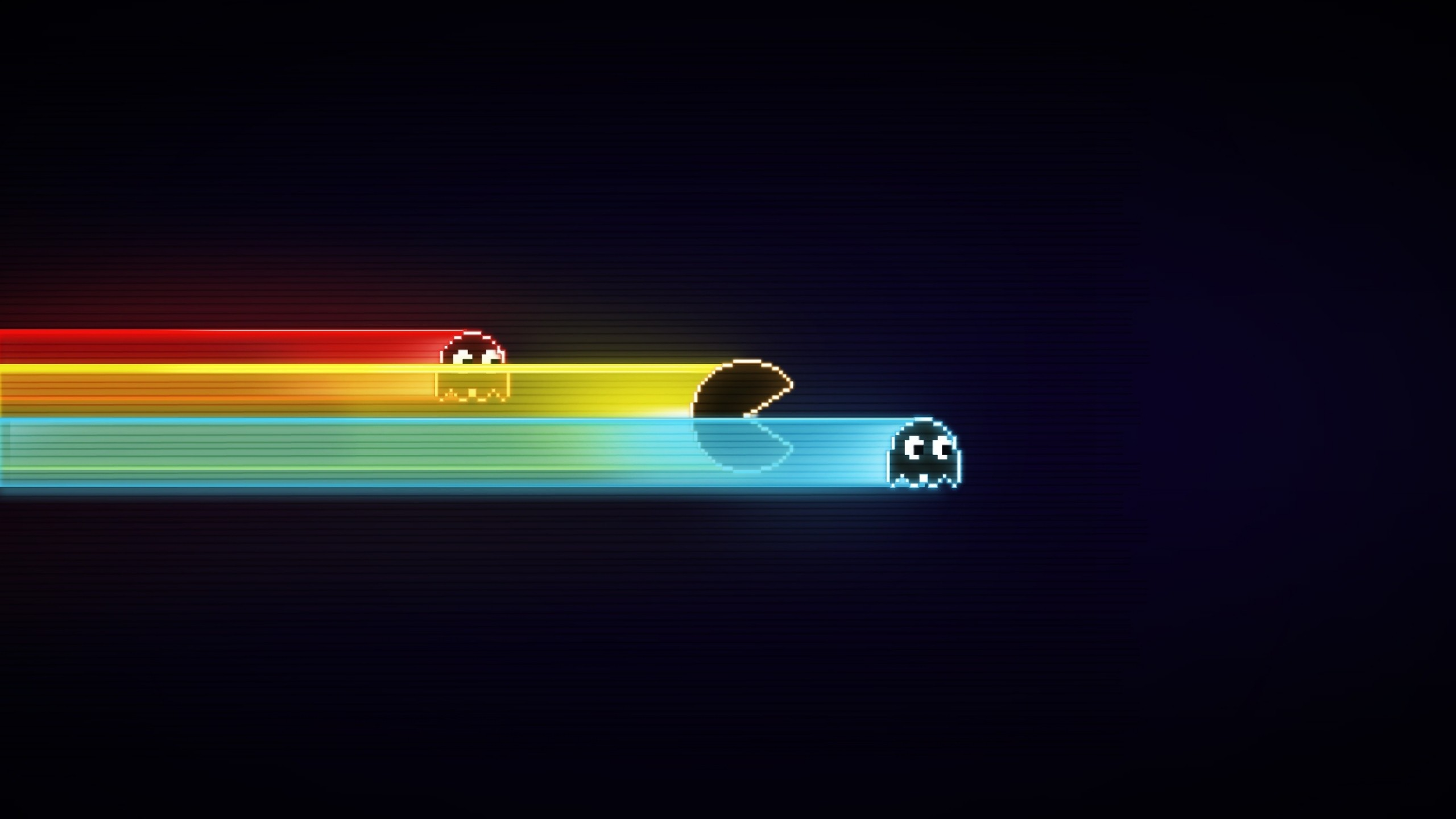 Preview wallpaper pacman, game, graphics, speed, harassment 2560×1440
