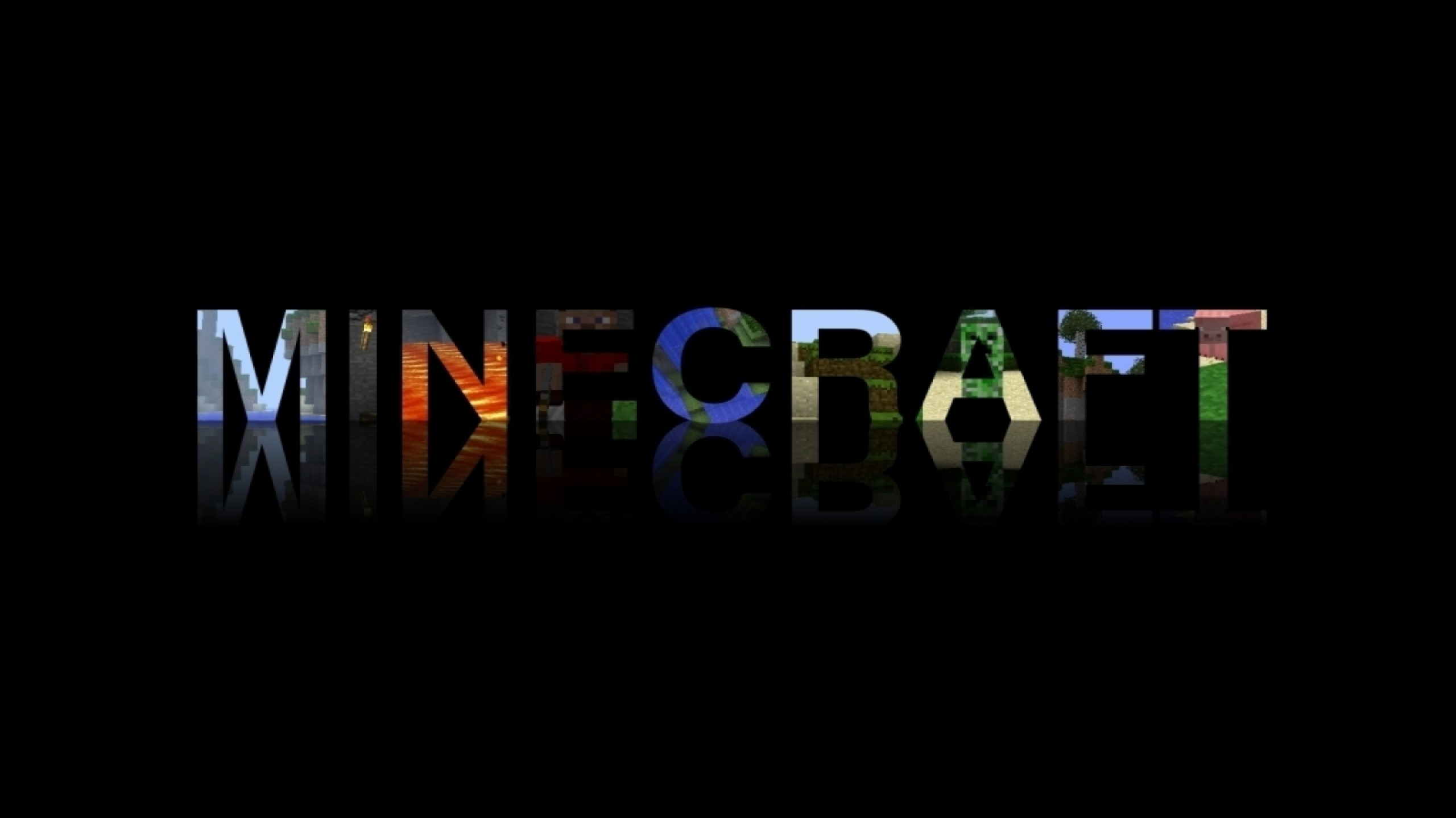 Description: Download Video games typography minecraft wallpaper/desktop  background in HD & Widescreen resolution.