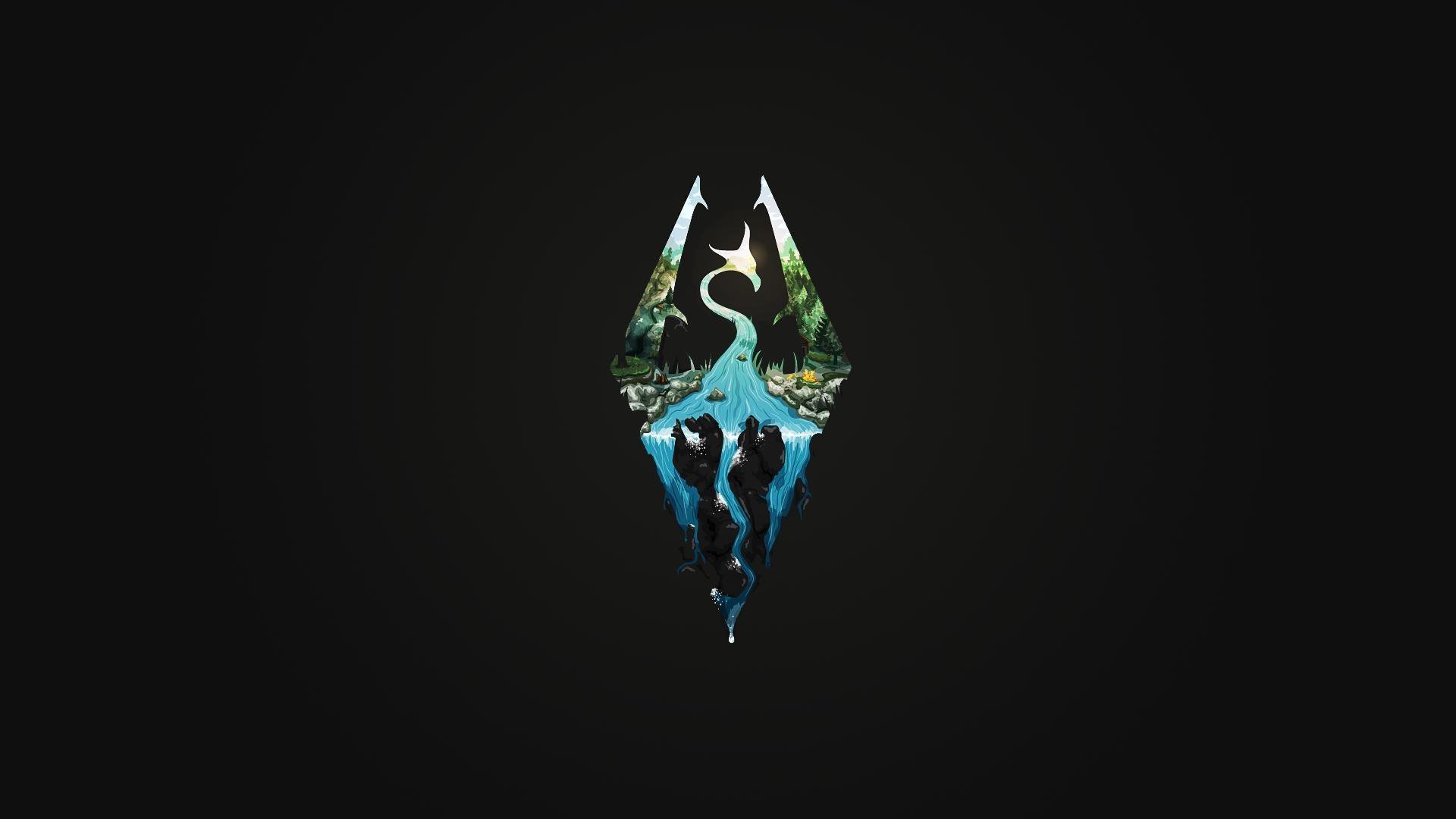logo, The Elder Scrolls V: Skyrim, Video Games, Minimalism Wallpapers HD /  Desktop and Mobile Backgrounds