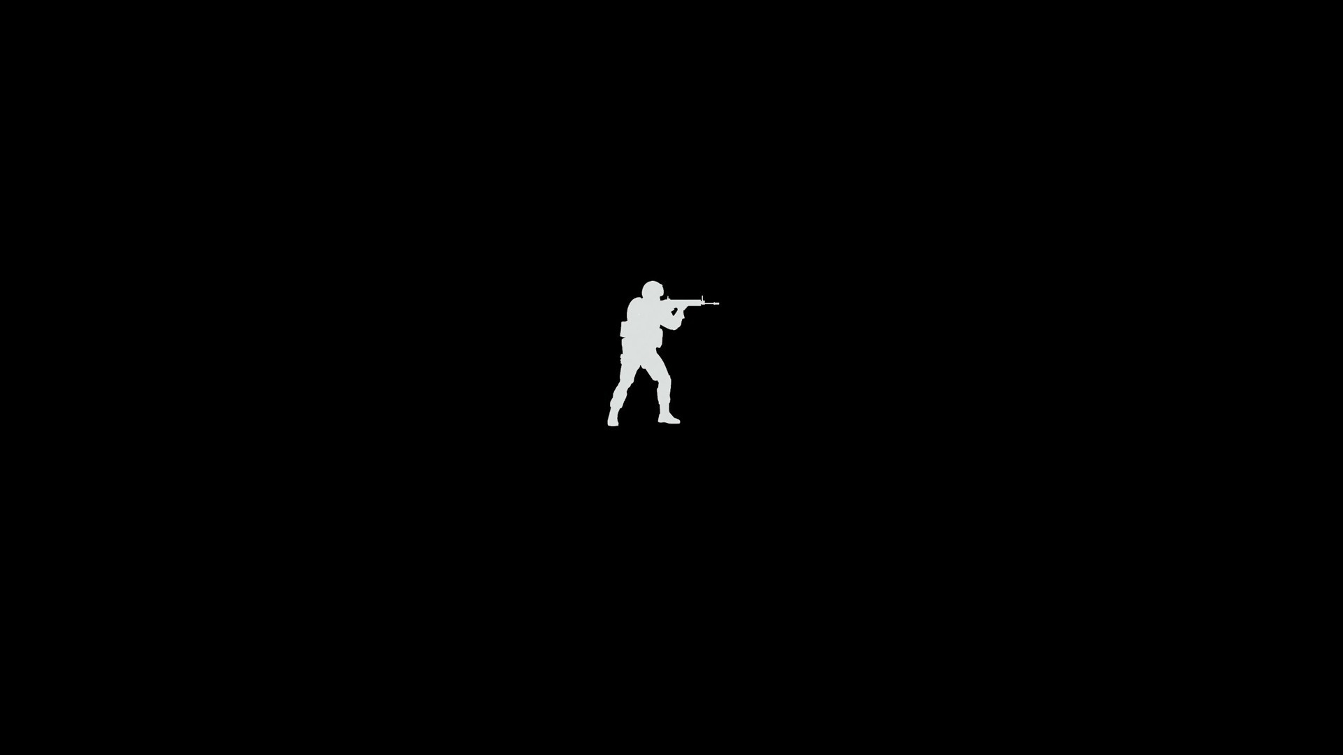 minimalism, Video Games, Counter Strike: Global Offensive, Black Wallpapers  HD / Desktop and Mobile Backgrounds