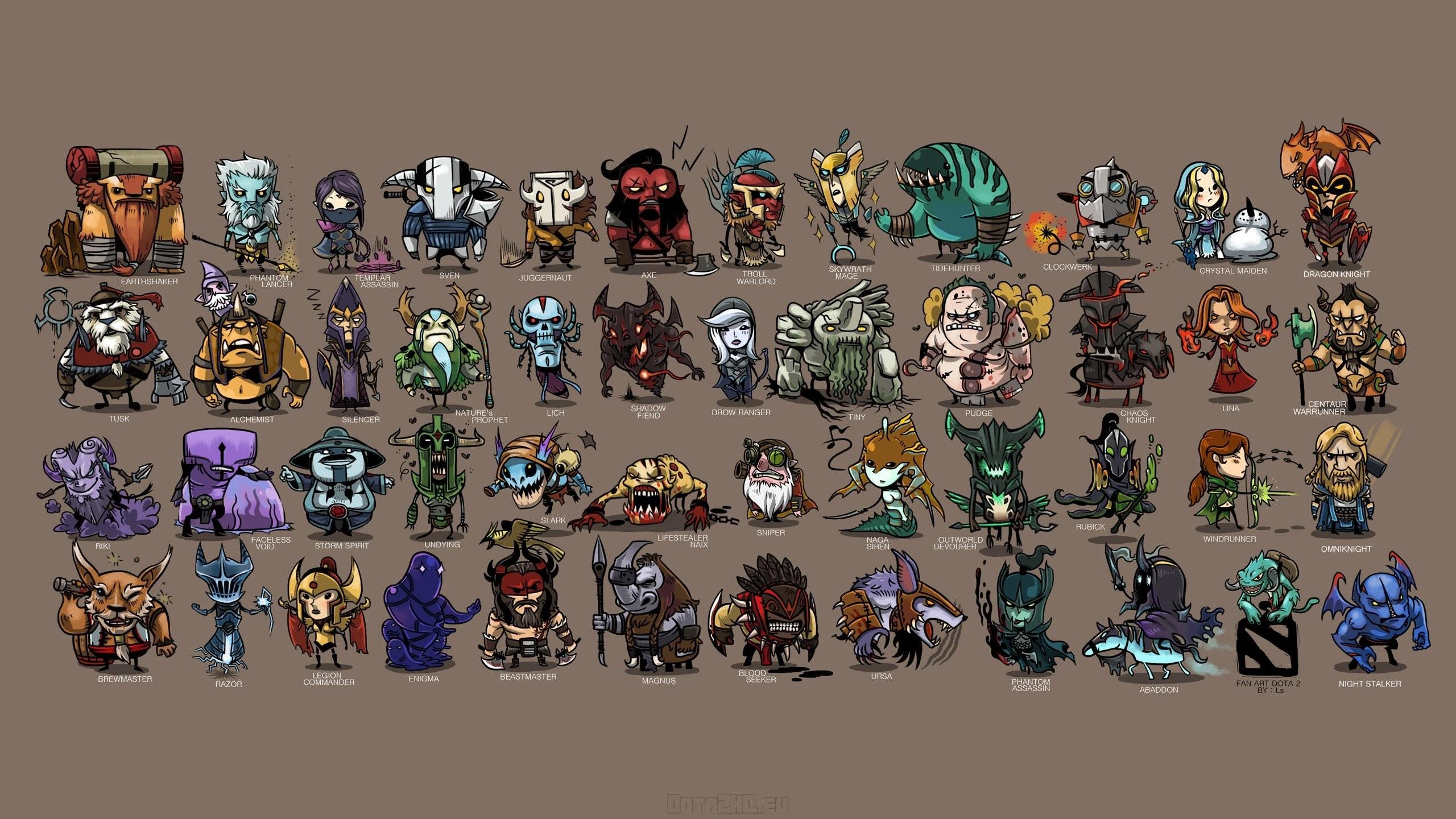Heroes Minimalism Dota 2 Video Games