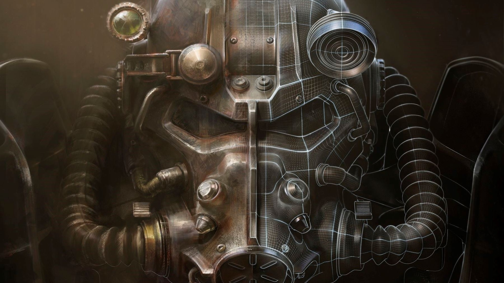 Preview wallpaper fallout 4, bethesda softworks, armor 1920×1080
