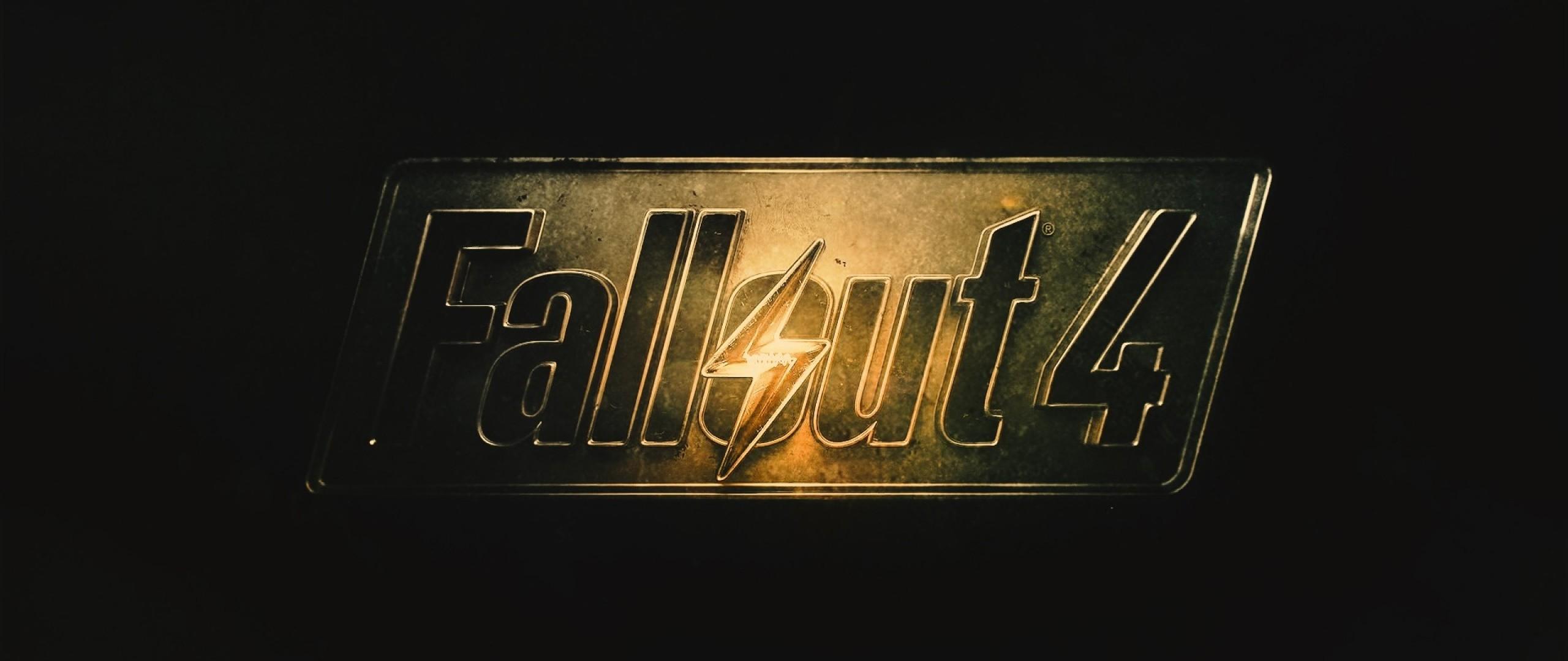 Preview wallpaper fallout 4, fallout, logo 2560×1080
