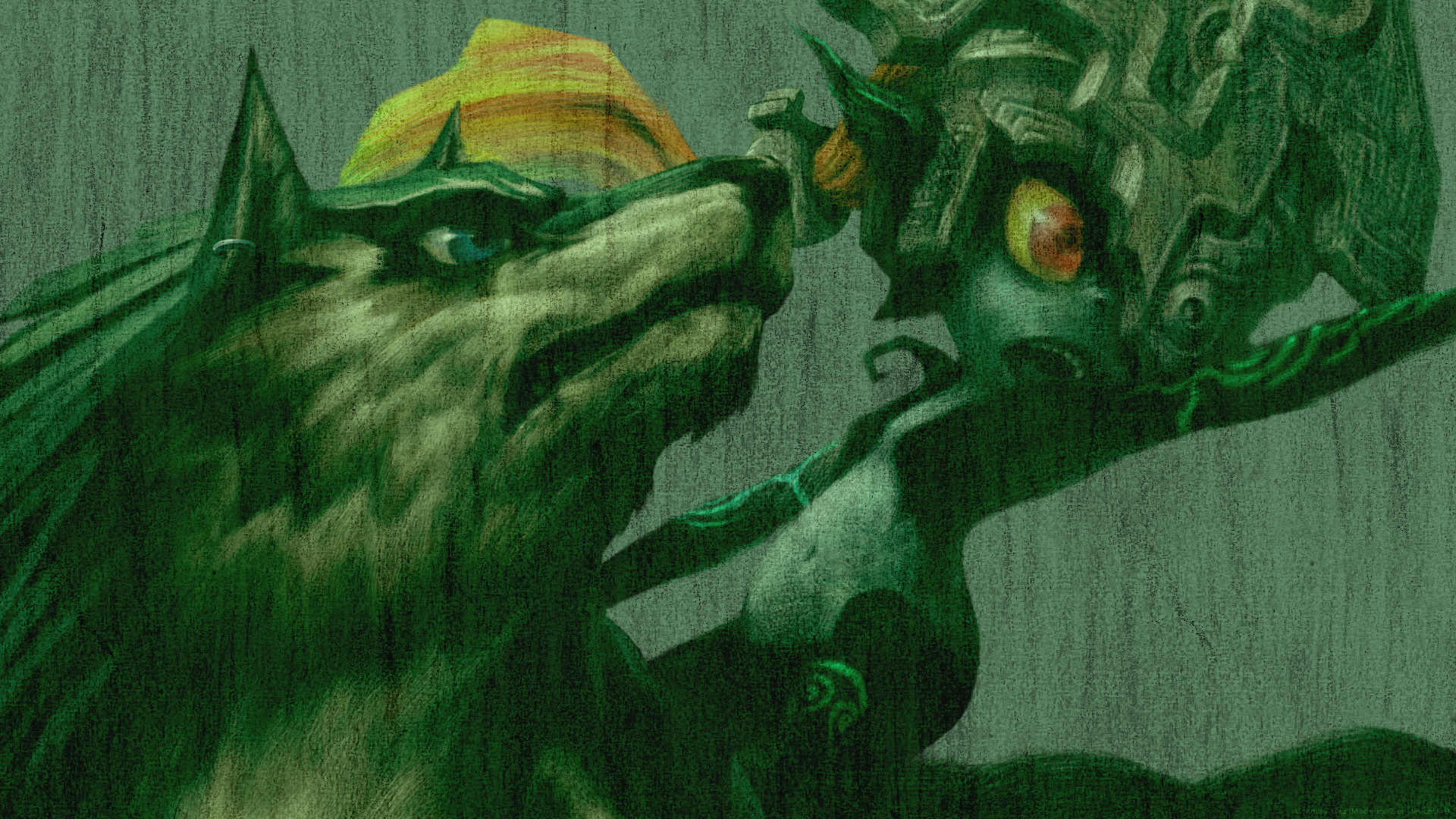 … Twilight Princess 10th – Wolf Link and Midna by ConnorRentz