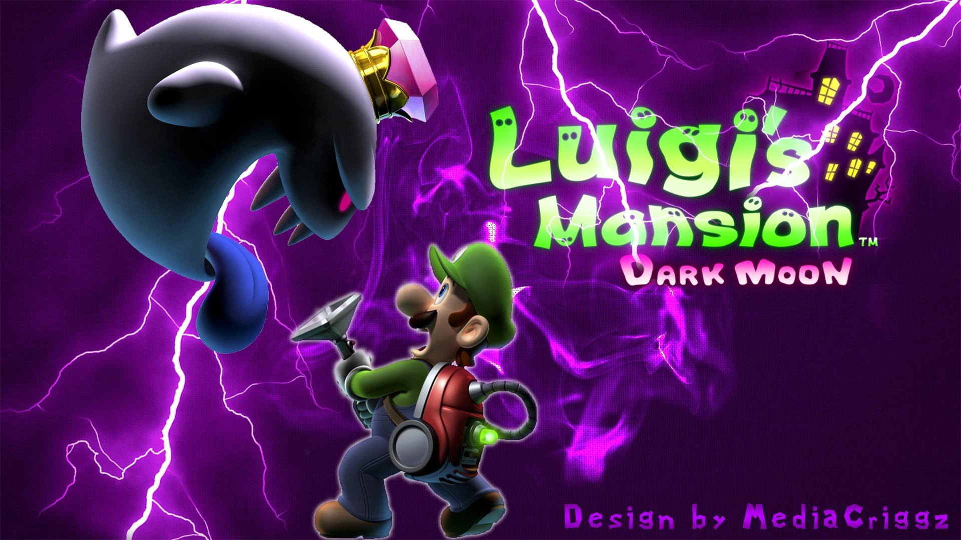 Luigi's Mansion Dark Moon wallpaper   Max   Pinterest   Dark moon and Video  games