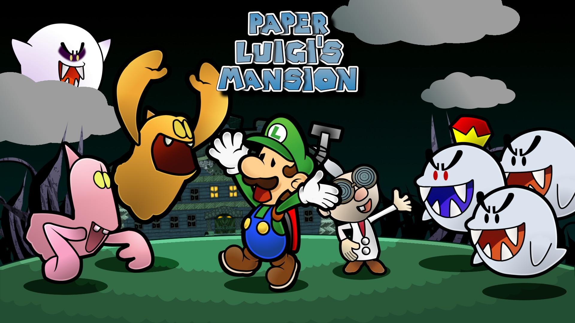 … Paper Luigi's Mansion by GEO-GIMP