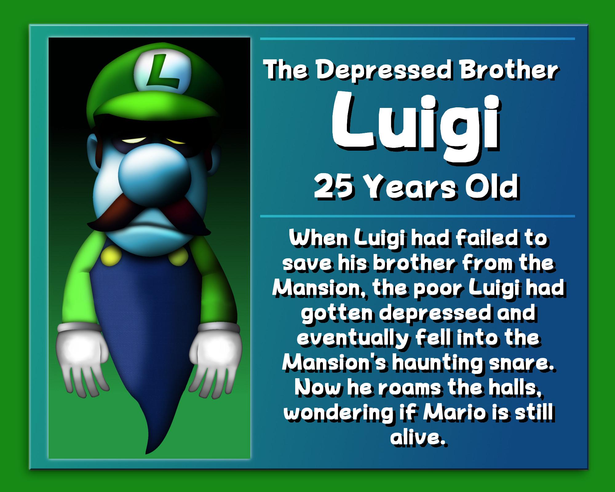 … Luigi: The Depressed Brother by GEO-GIMP