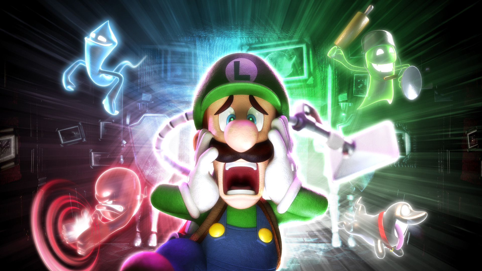 Cheer Luigi up and buy his game. You'll need a 3DS too,