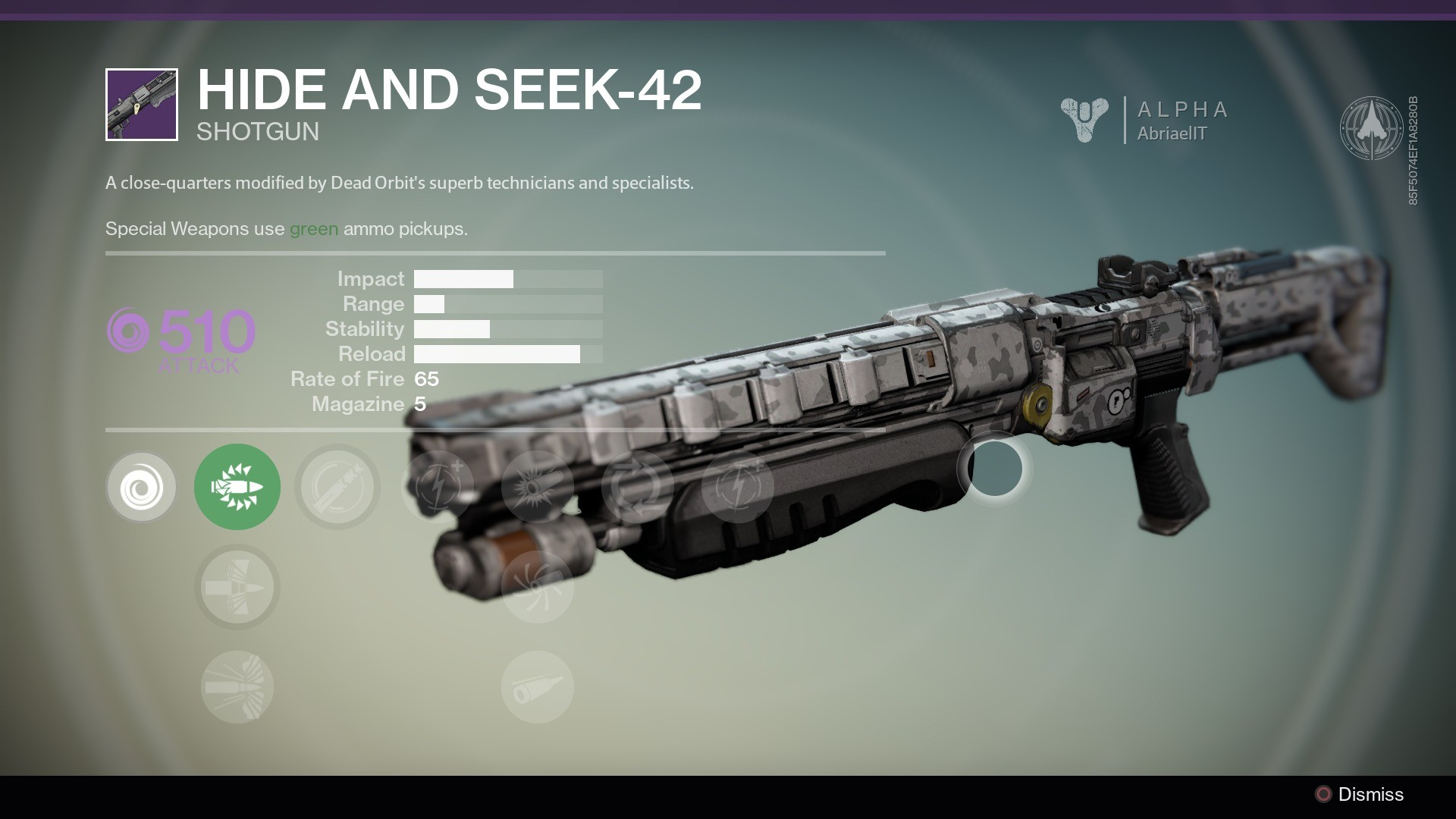 A marksman's weapon modified by Dead Orbit's superb technicians and  specialists. The Crypt Dweller SR1 is a legendary scout rifle… #destiny    Pinterest …
