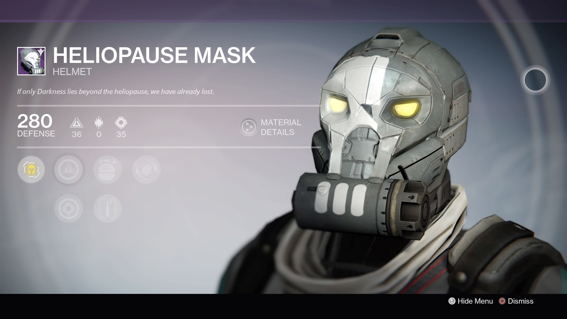Heliopause Mask