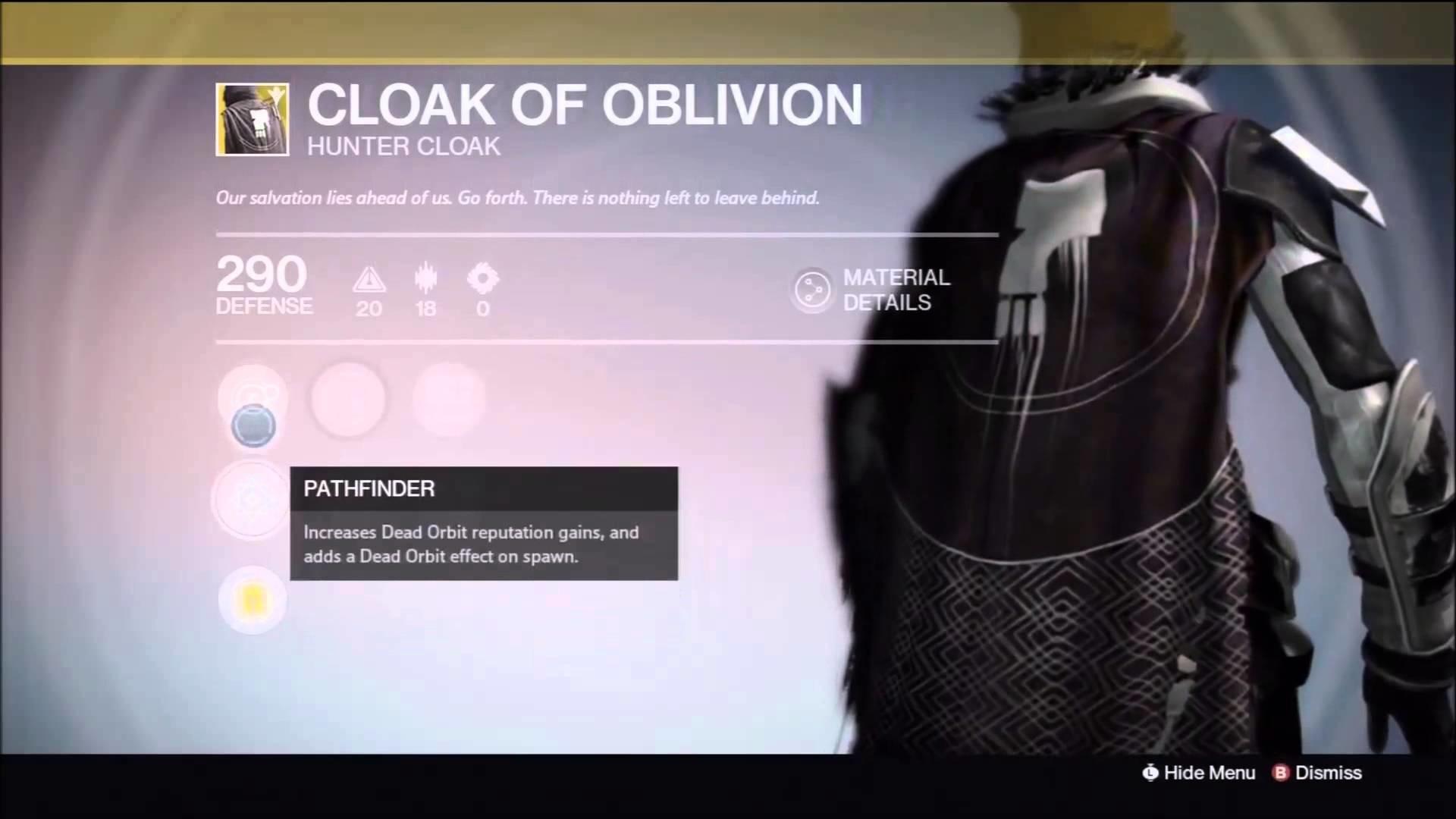 Destiny TTK: Cloak of Oblivion Dead Orbit / Dead Orbit Effect on Spawn –  YouTube