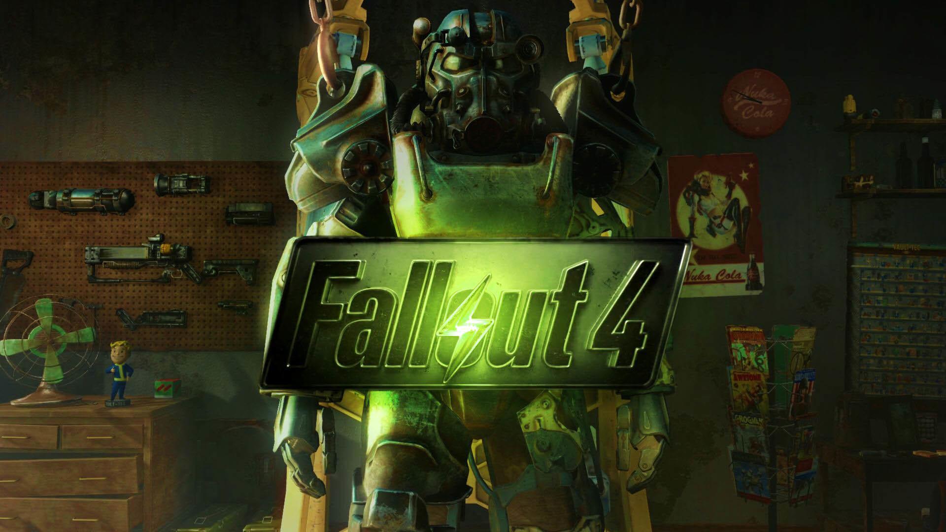 Fallout 4 Logo & Armor wallpaper