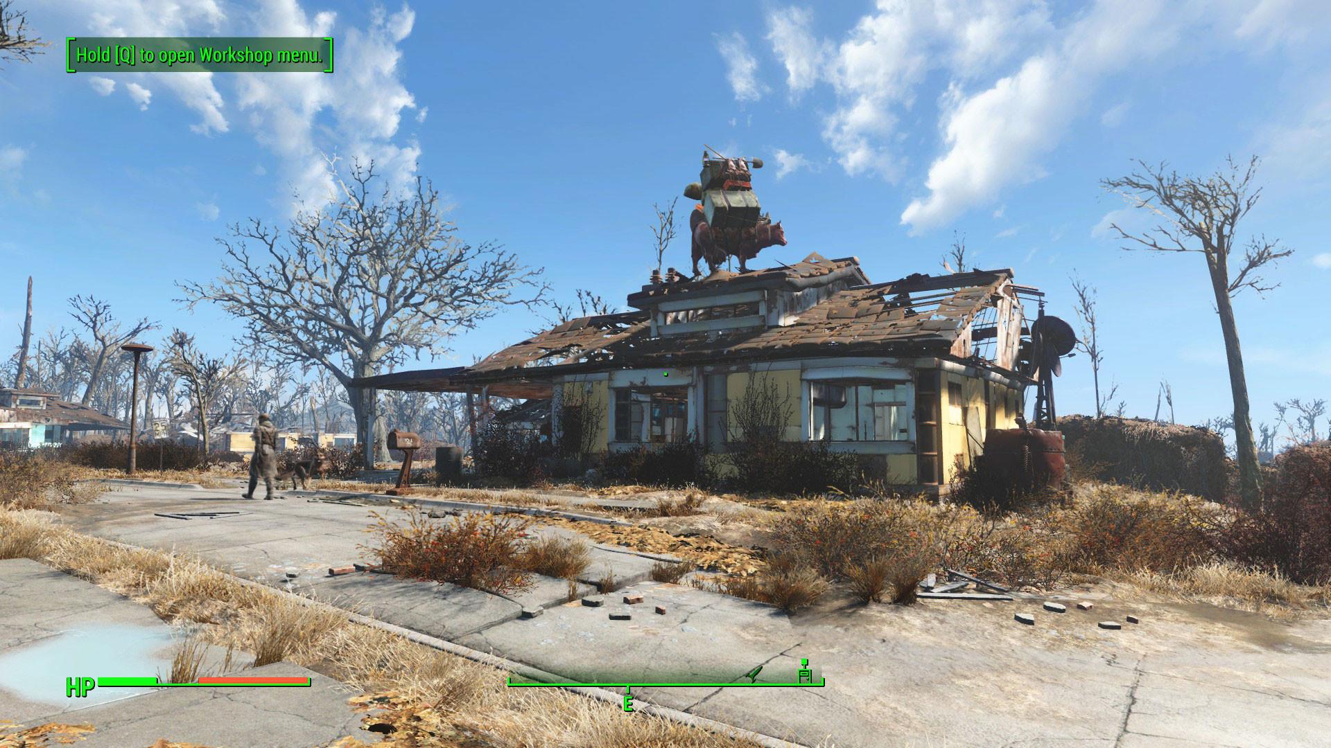 Fallout 4 roof Brahmin